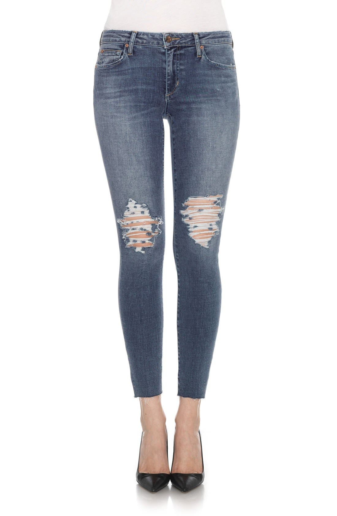 Flawless - Icon Ankle Skinny Jeans,                             Main thumbnail 1, color,                             401