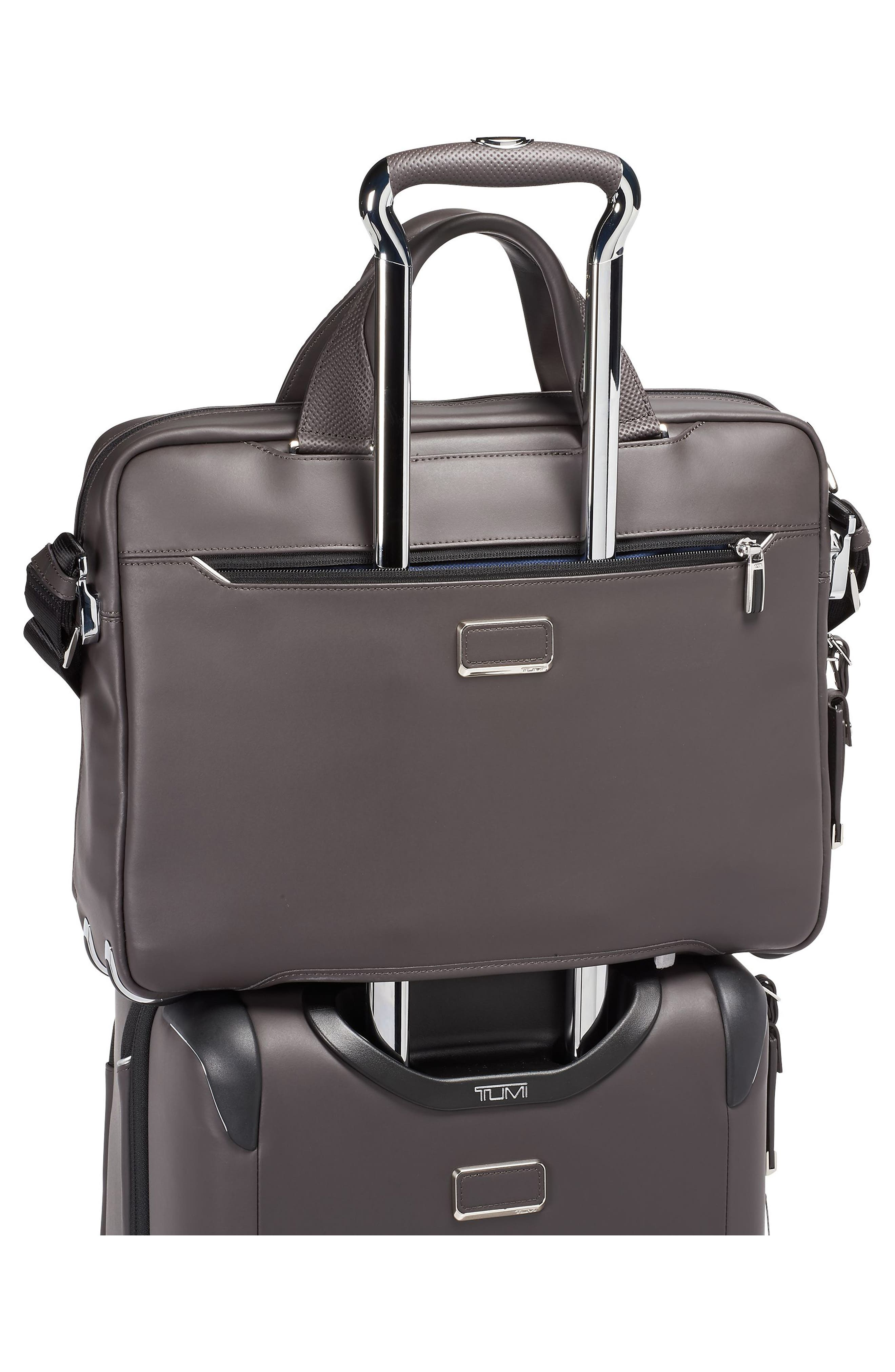 Arrivé - Sawyer Leather Briefcase,                             Alternate thumbnail 6, color,                             TAUPE