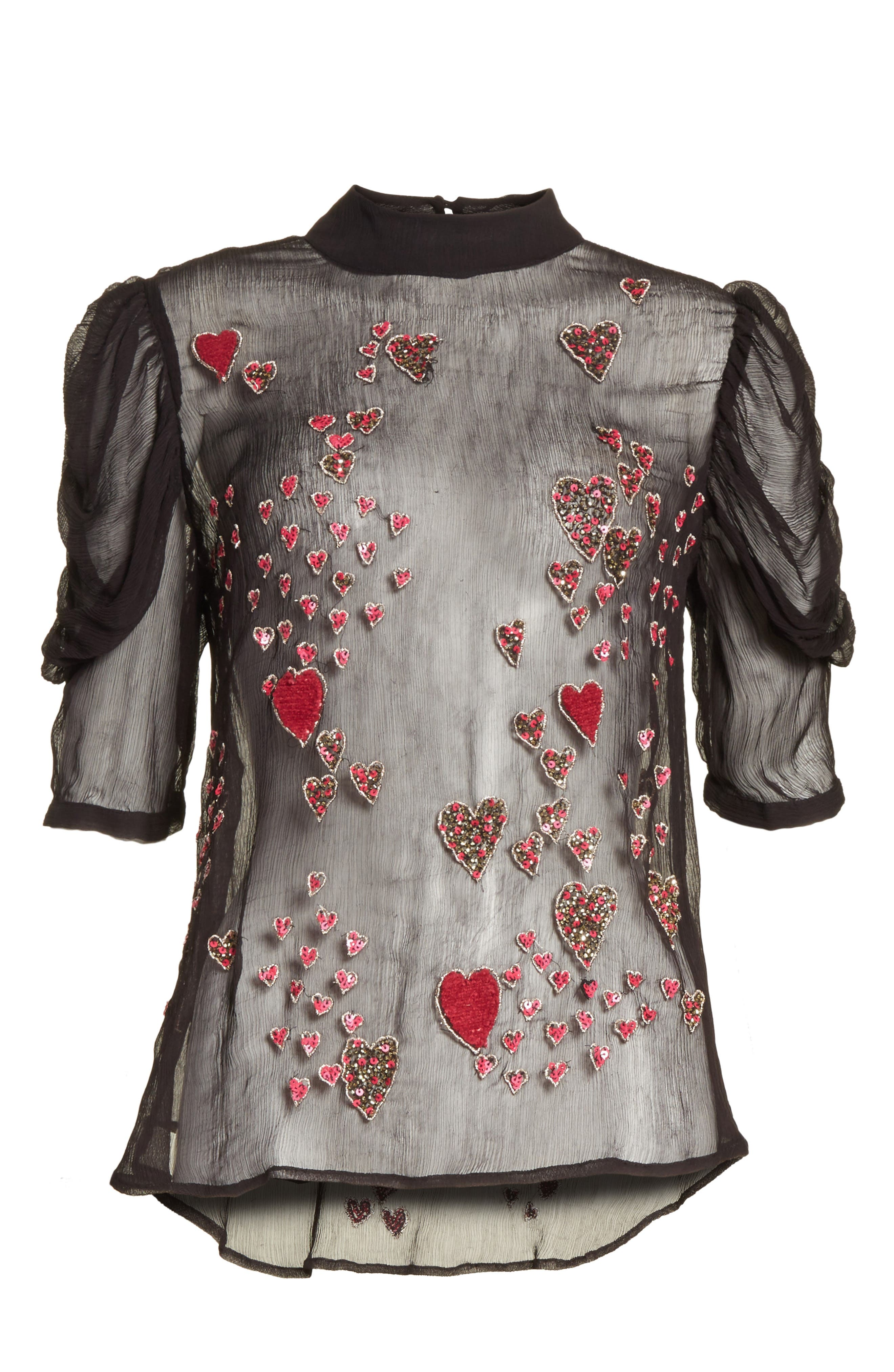 So in Love Embroidered Blouse,                             Alternate thumbnail 6, color,                             001