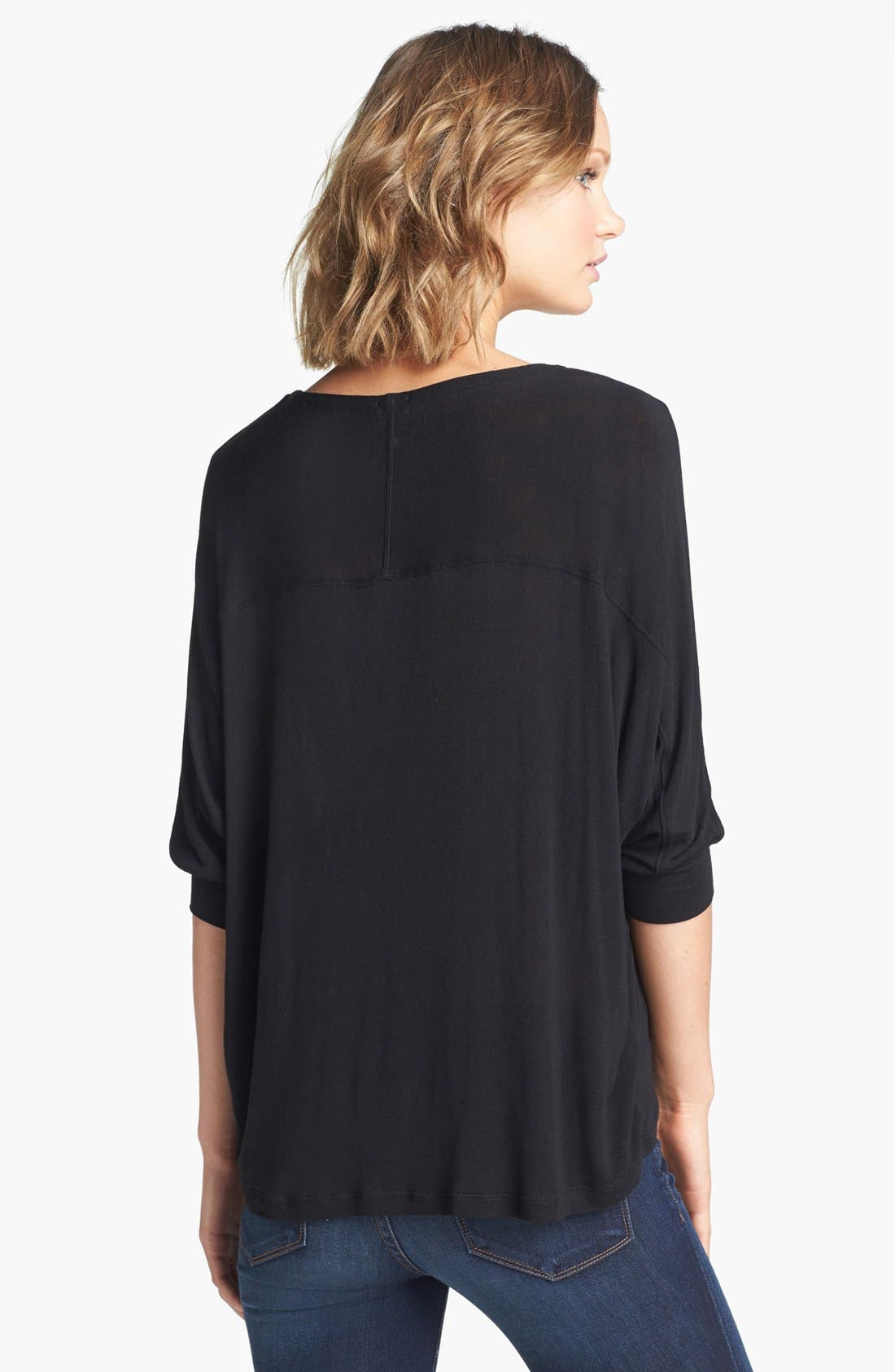 Dolman Sleeve Top,                             Alternate thumbnail 4, color,                             001