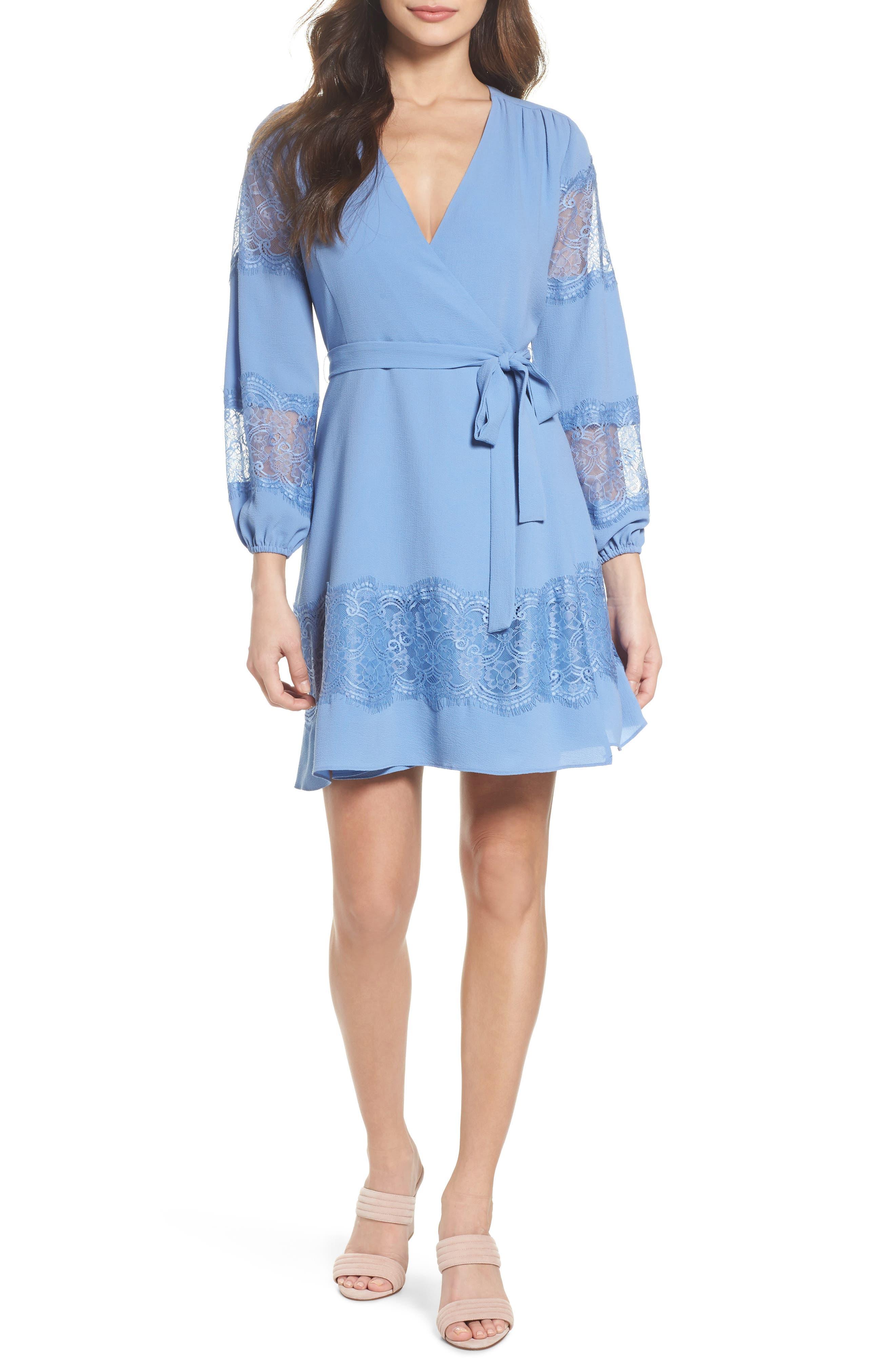 Lauryl Wrap Dress,                         Main,                         color, 450