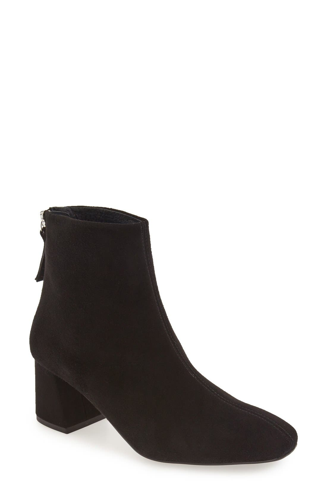 'Maggie' Flared Heel Bootie,                             Main thumbnail 1, color,                             001