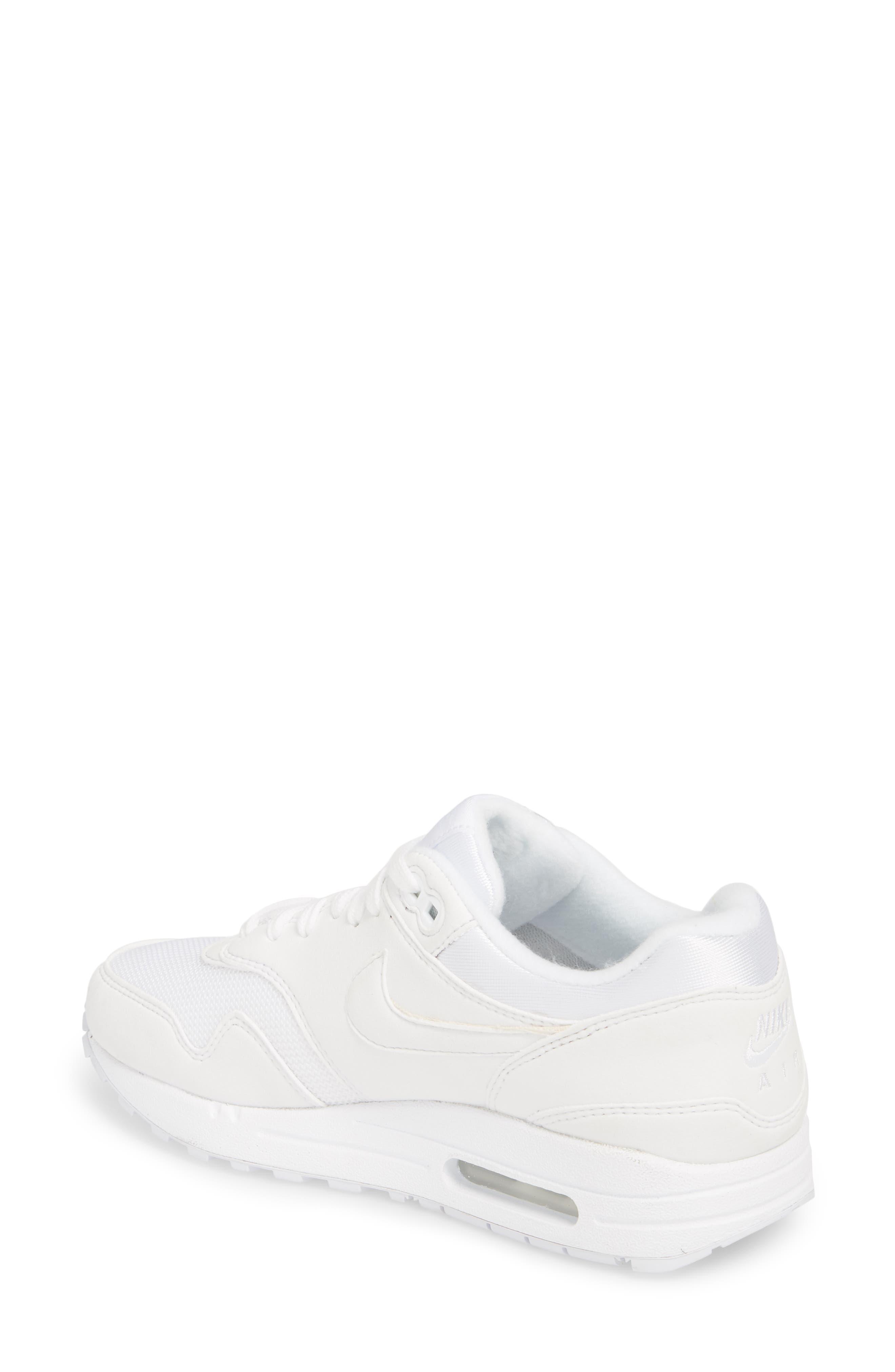 'Air Max 1 ND' Sneaker,                             Alternate thumbnail 2, color,                             WHITE/ WHITE/ PURE PLATINUM