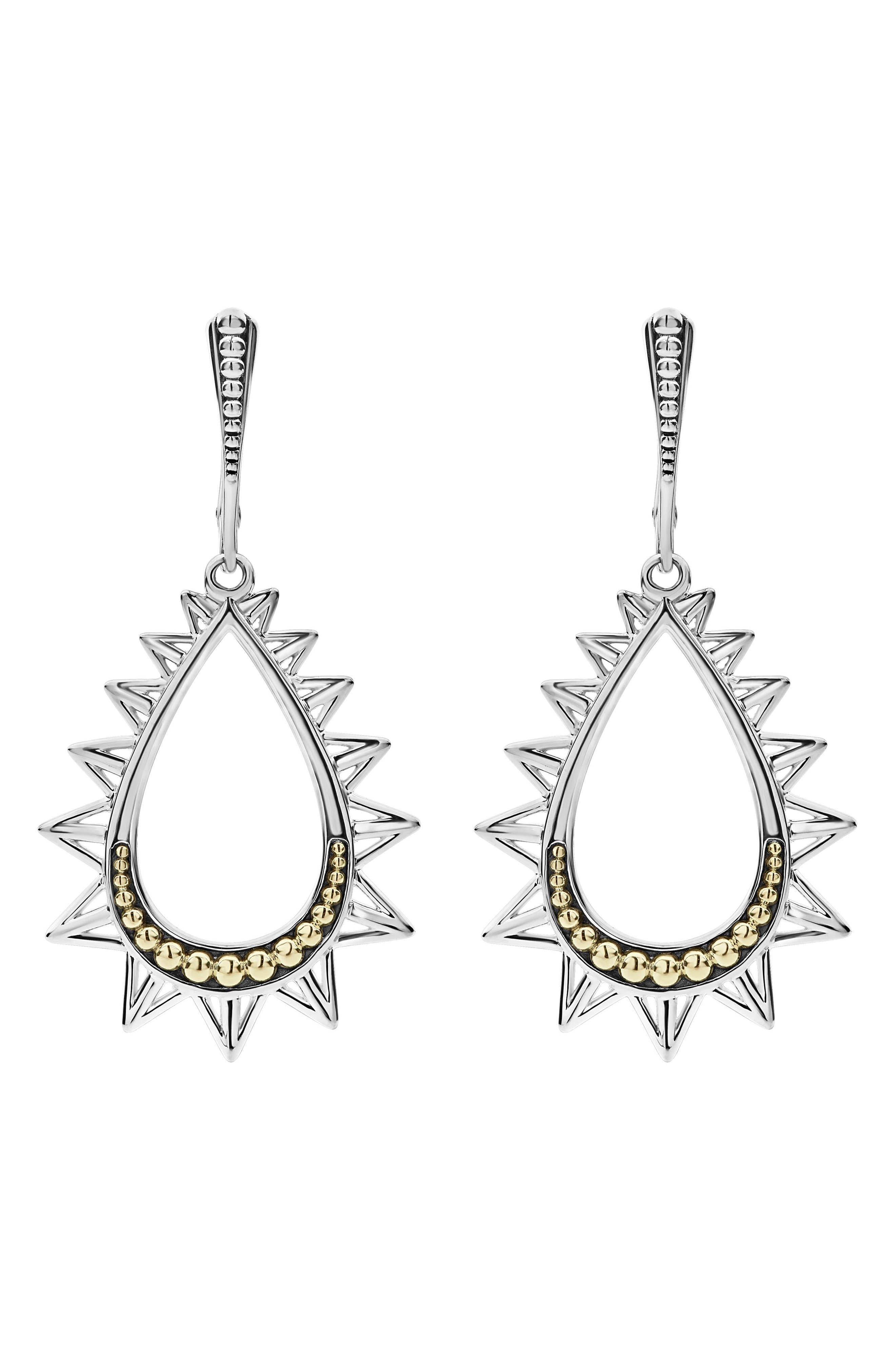 KSL Spiked Pear Drop Earrings,                             Alternate thumbnail 3, color,                             040