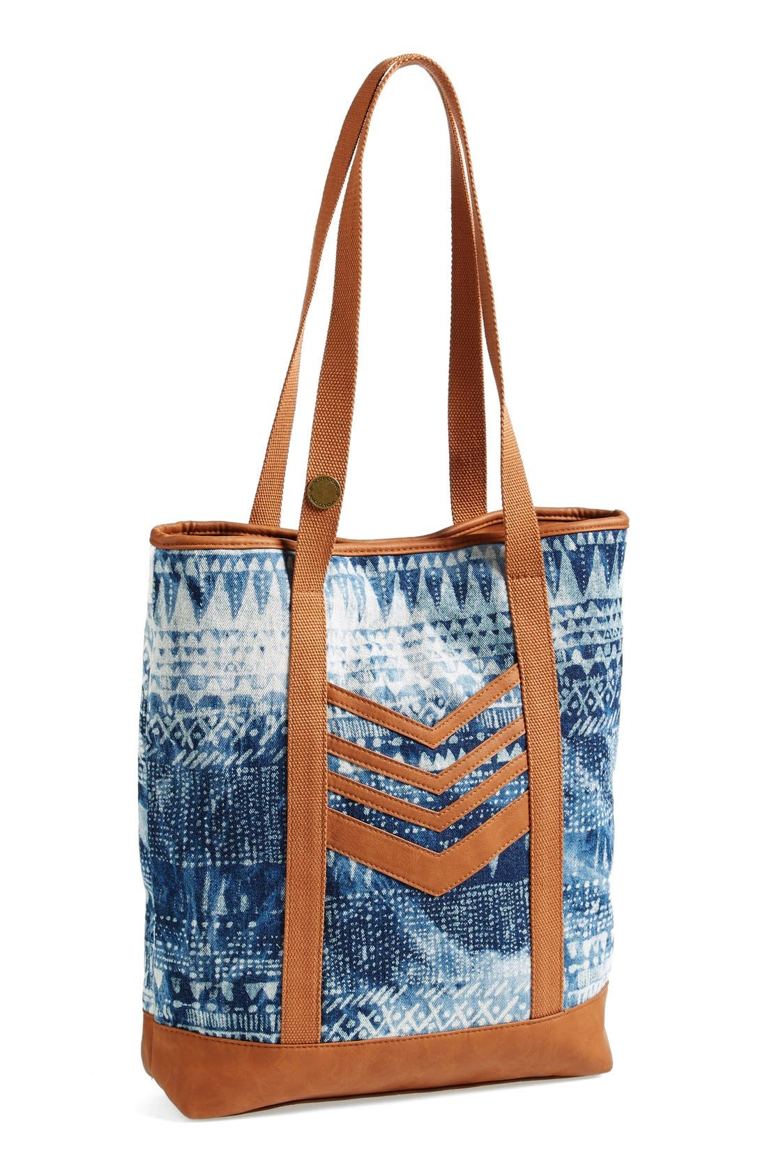 VOLCOM 'Thrifty Fun' Bleach Pattern Tote, Main, color, 200