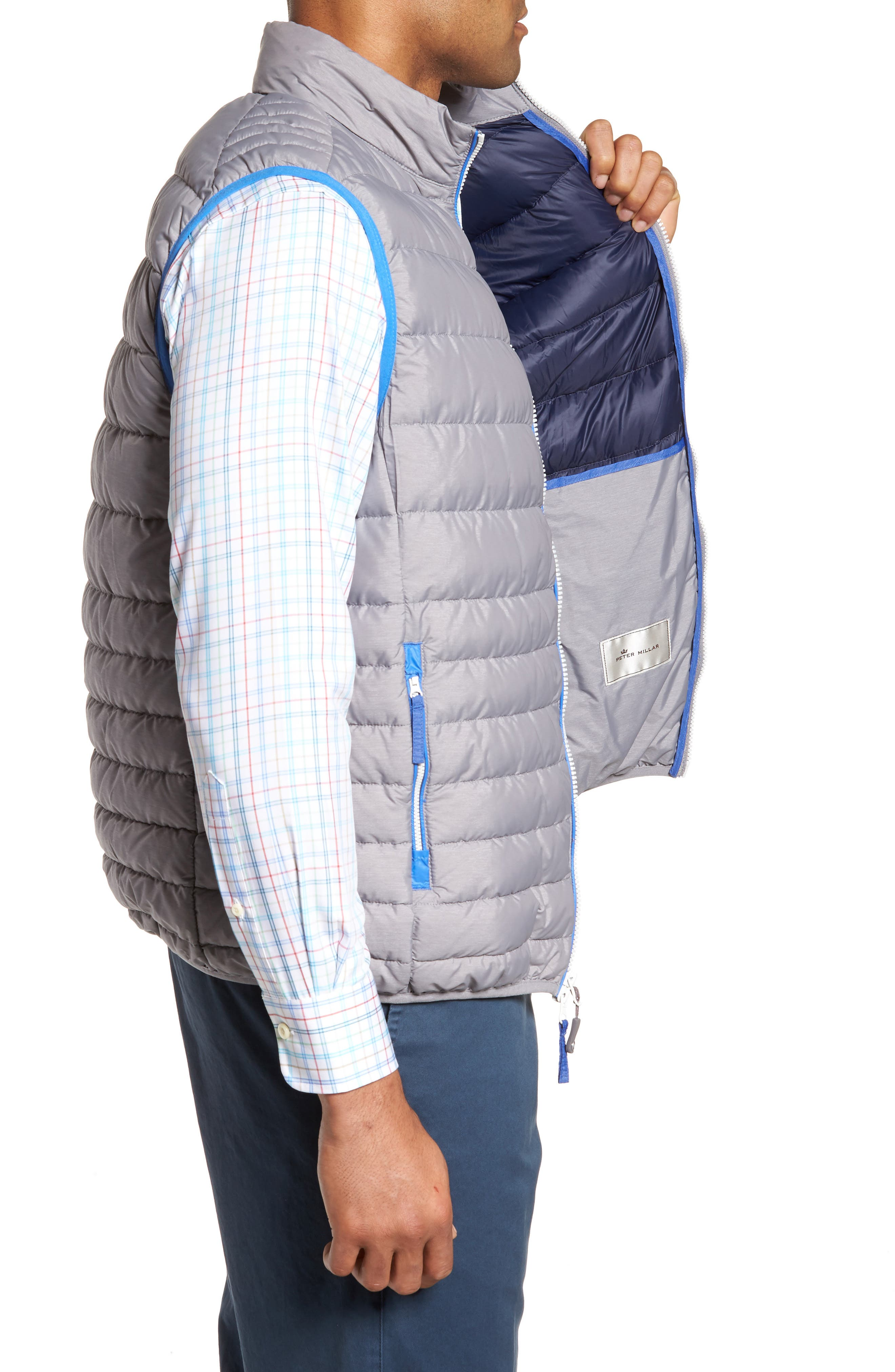 Crown Elite Light Down Vest,                             Alternate thumbnail 3, color,                             010