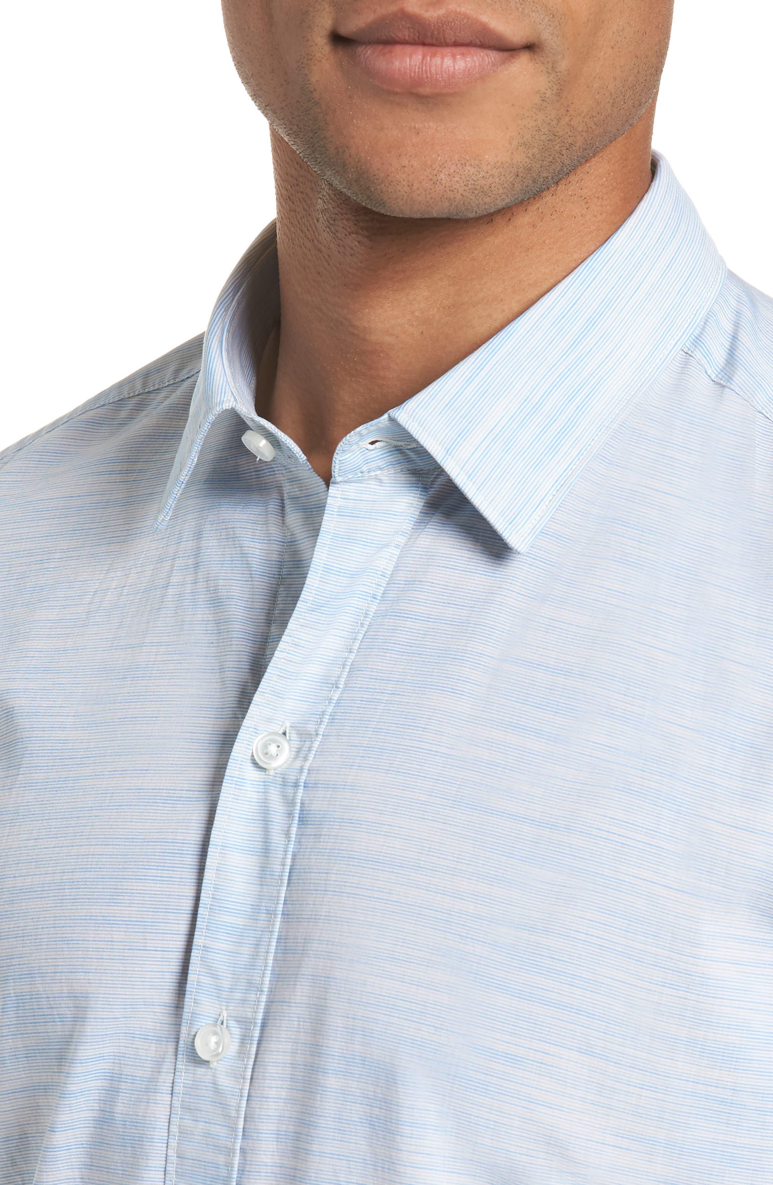 Space Dyed Trim Fit Sport Shirt,                             Alternate thumbnail 2, color,                             470
