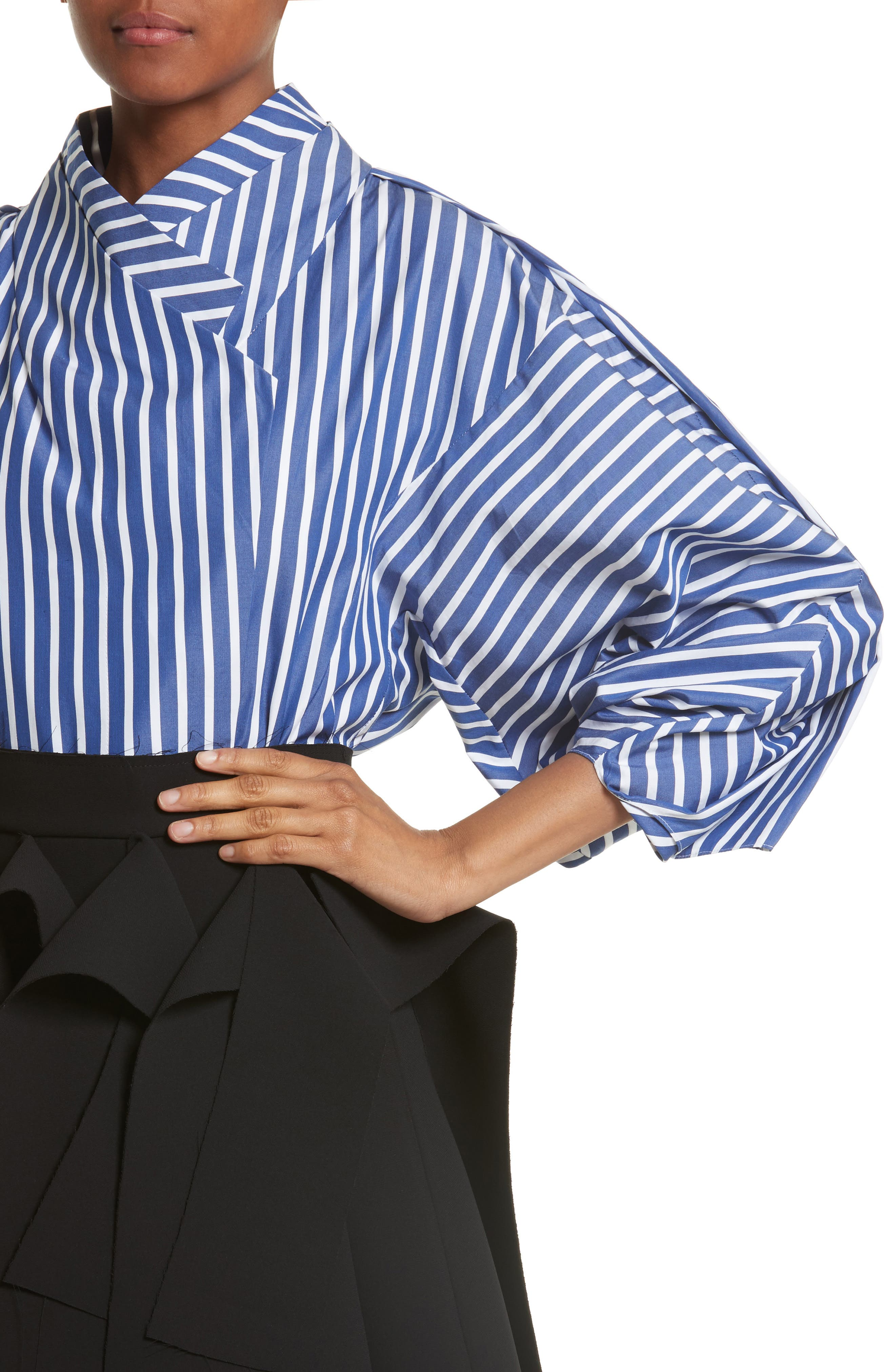 Twisted Sleeve Blouse,                             Alternate thumbnail 4, color,                             400