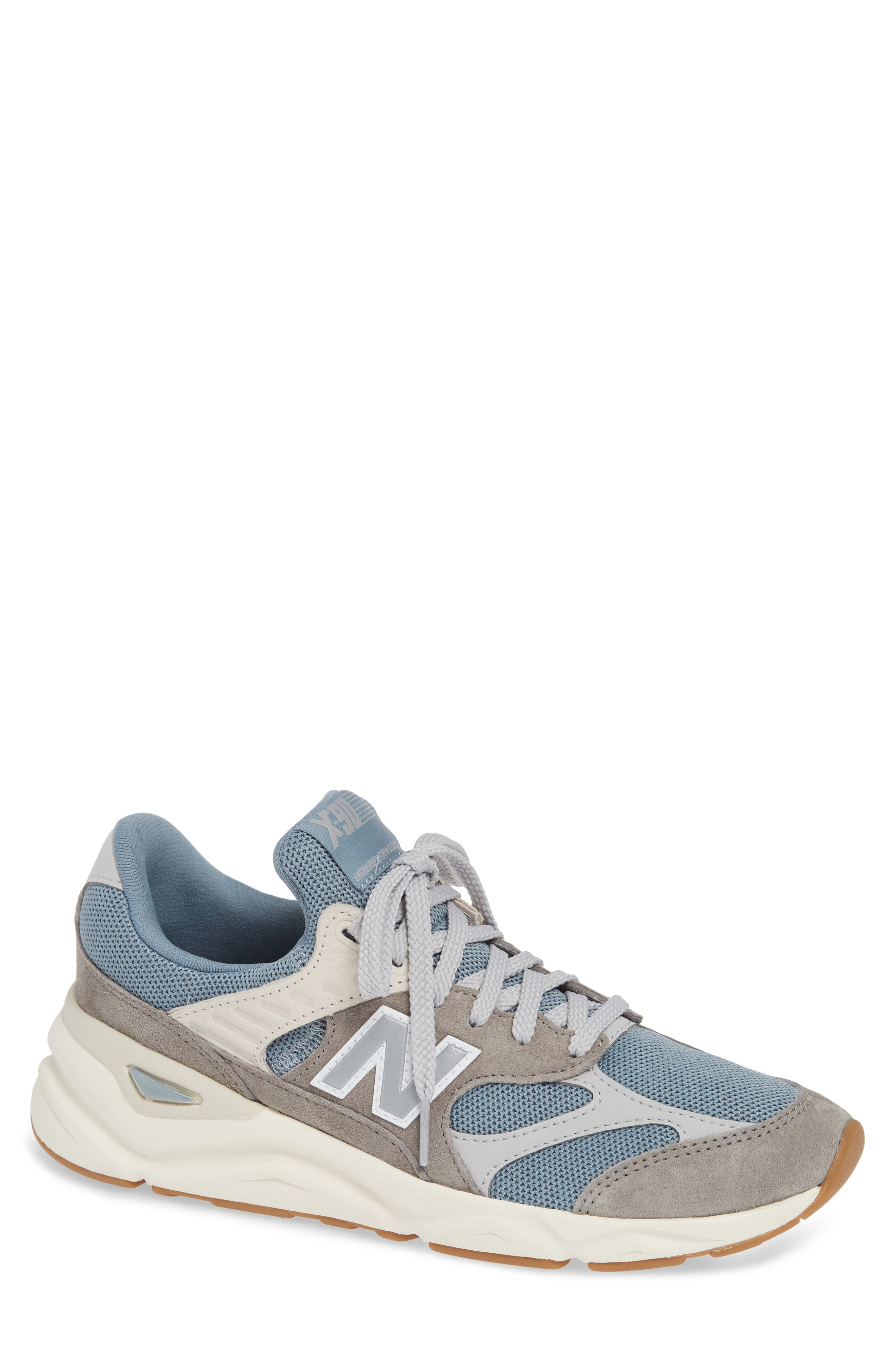 X-90 Sneaker,                             Main thumbnail 1, color,                             CYCLONE SUEDE/ TEXTILE