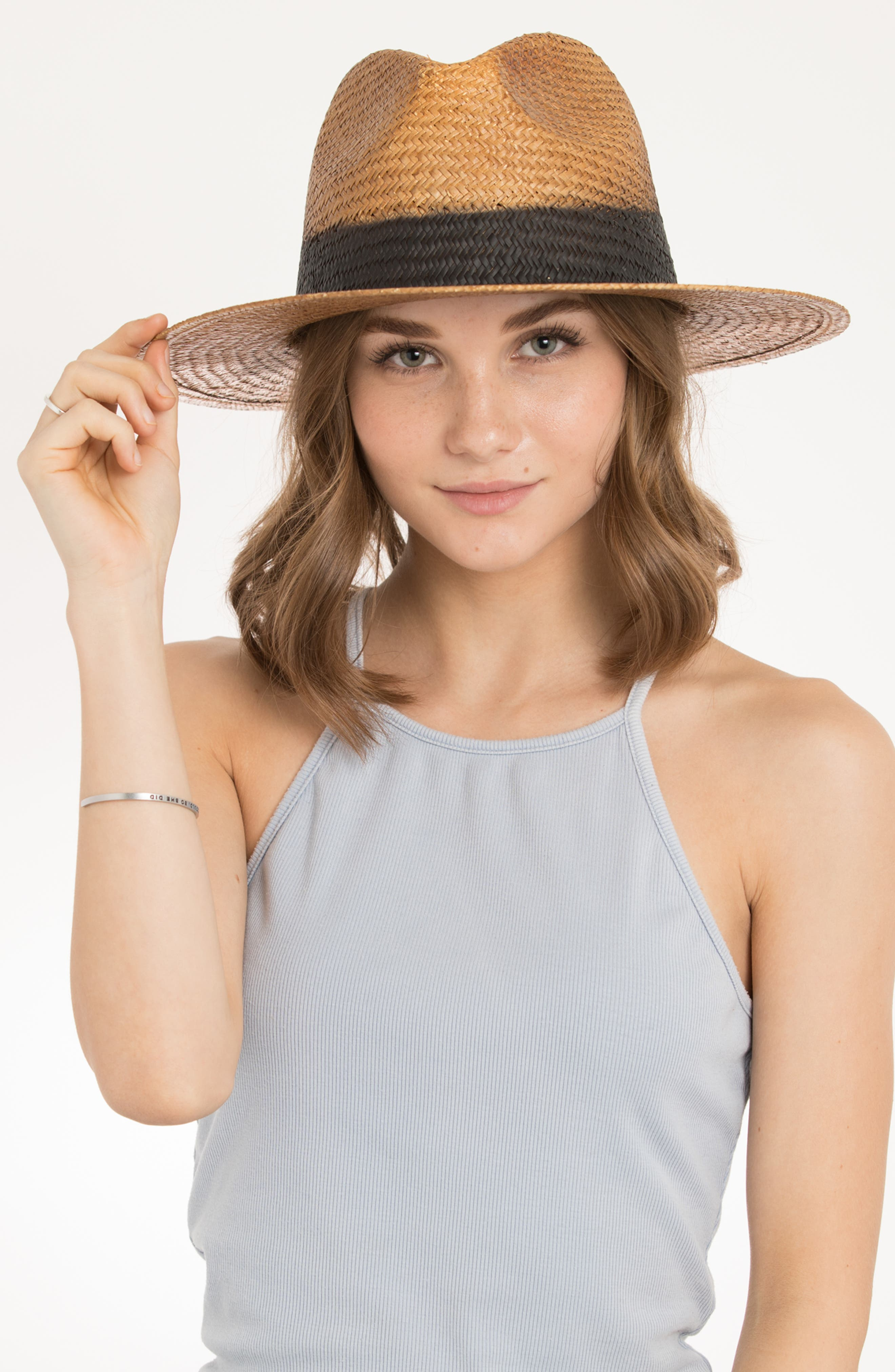 Cayenne Straw Resort Hat,                             Alternate thumbnail 2, color,                             230