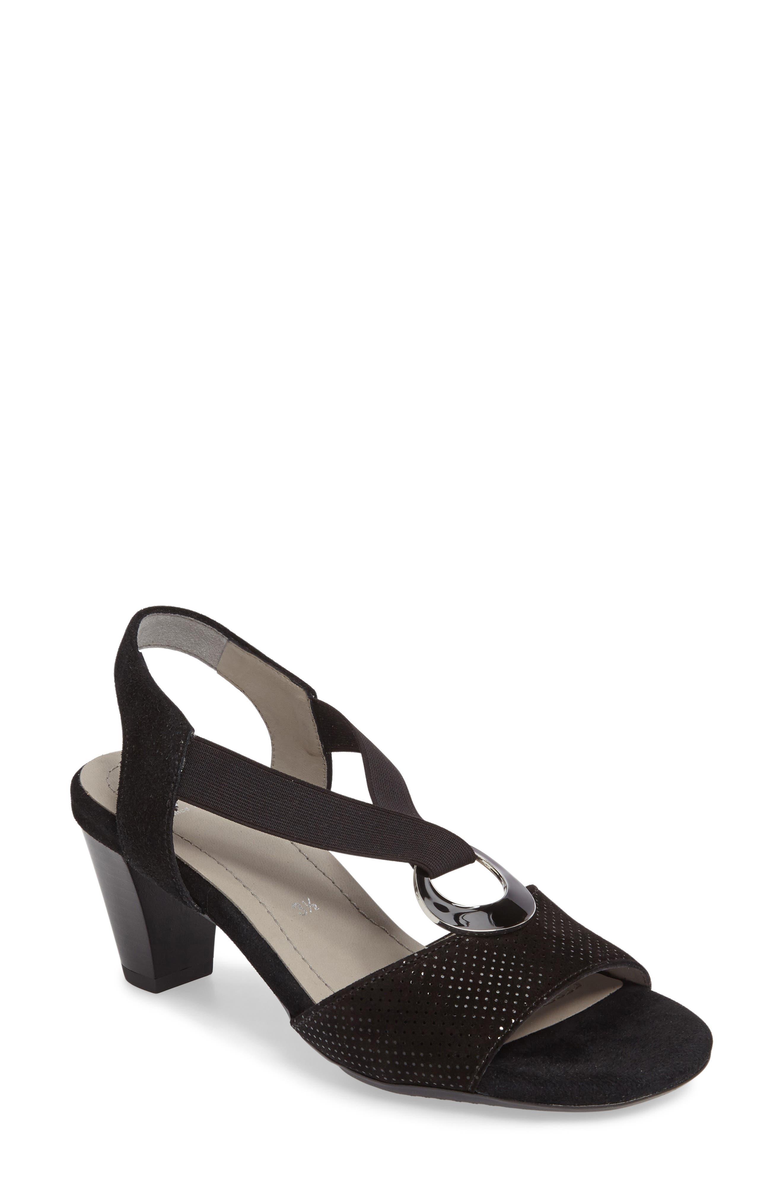 Raizel Sandal,                         Main,                         color, BLACK SUEDE