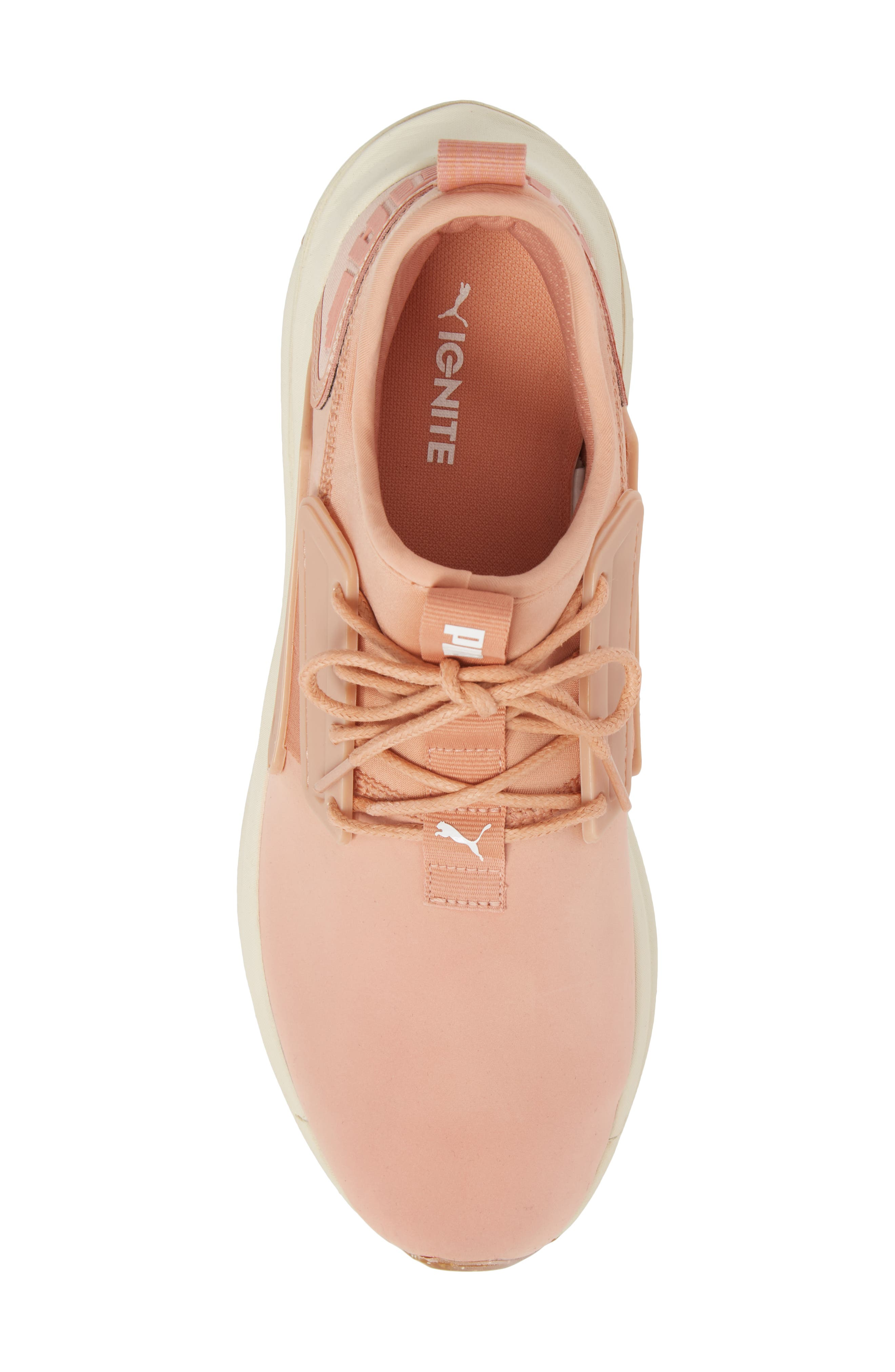 IGNITE Limitless SR Nature Sneaker,                             Alternate thumbnail 5, color,                             MUTED CLAY LEATHER/ SUEDE