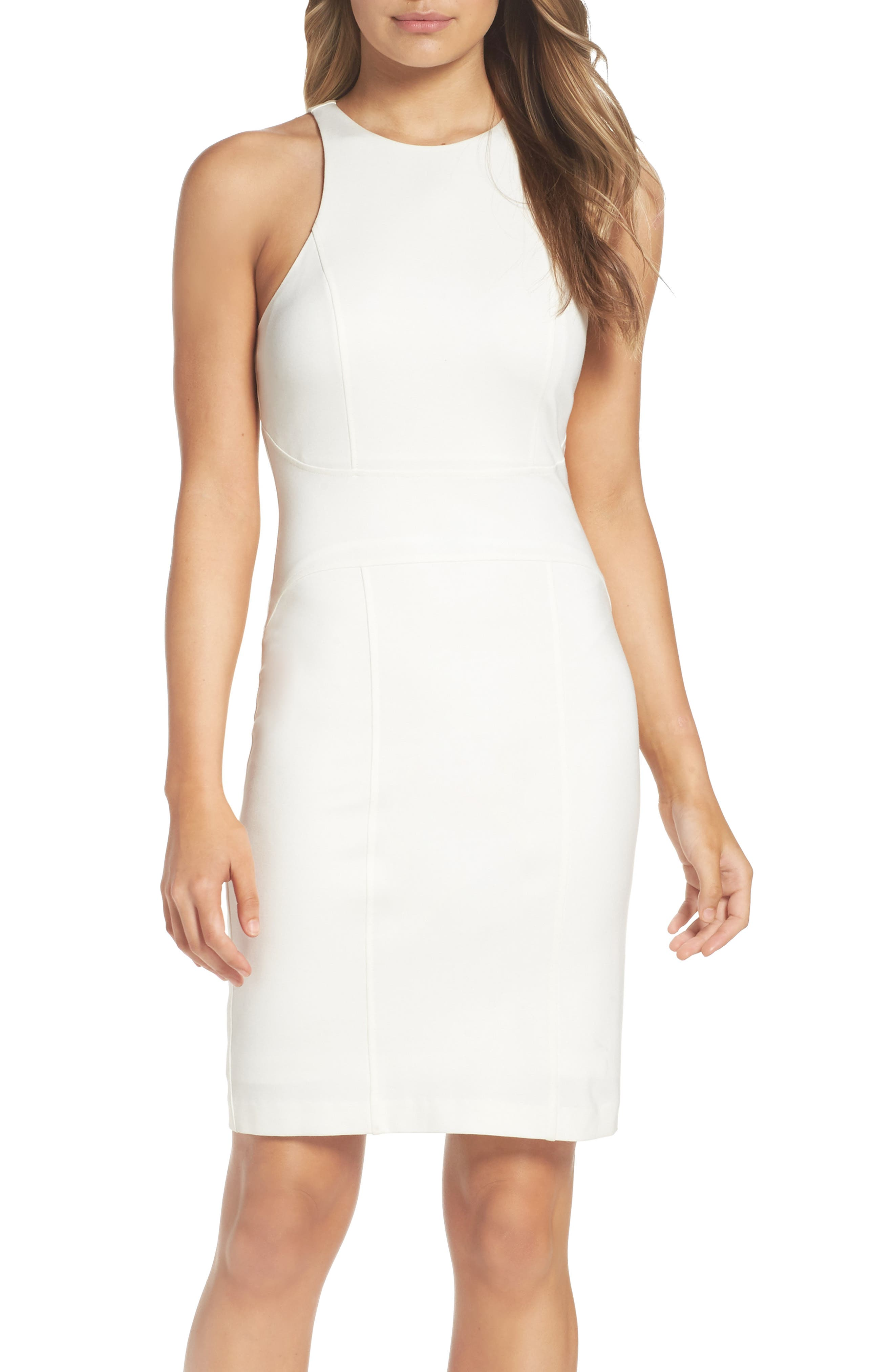 You Ruin Me Body-Con Dress,                             Alternate thumbnail 6, color,                             WHITE