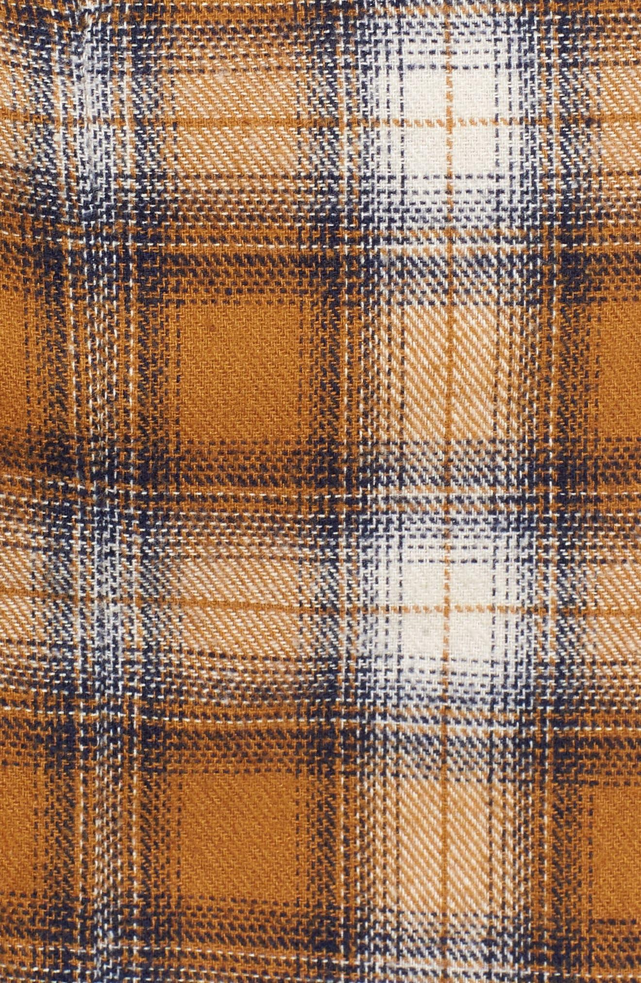 Plaid Wrap Panel Skirt,                             Alternate thumbnail 5, color,                             700