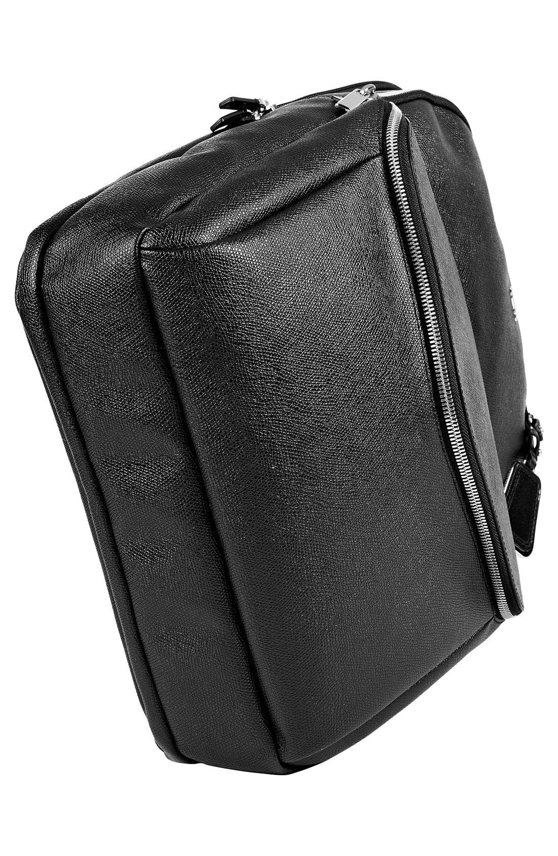 'Sinclair Harlow' Coated Canvas Laptop Backpack,                             Alternate thumbnail 5, color,                             002