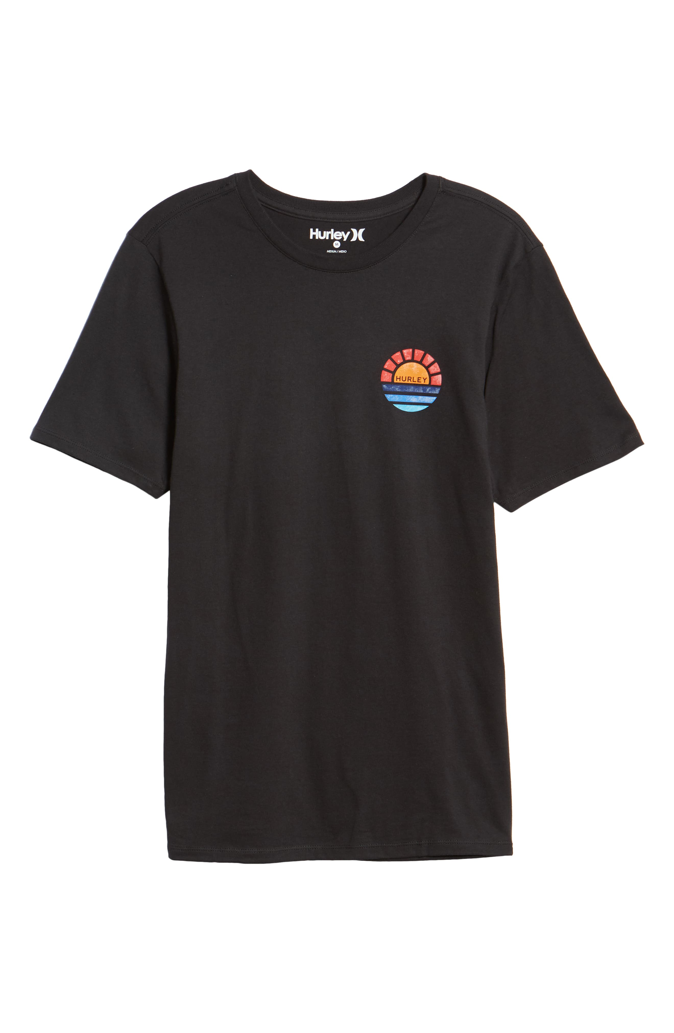 Core Sunset T-Shirt,                             Alternate thumbnail 6, color,                             BLACK
