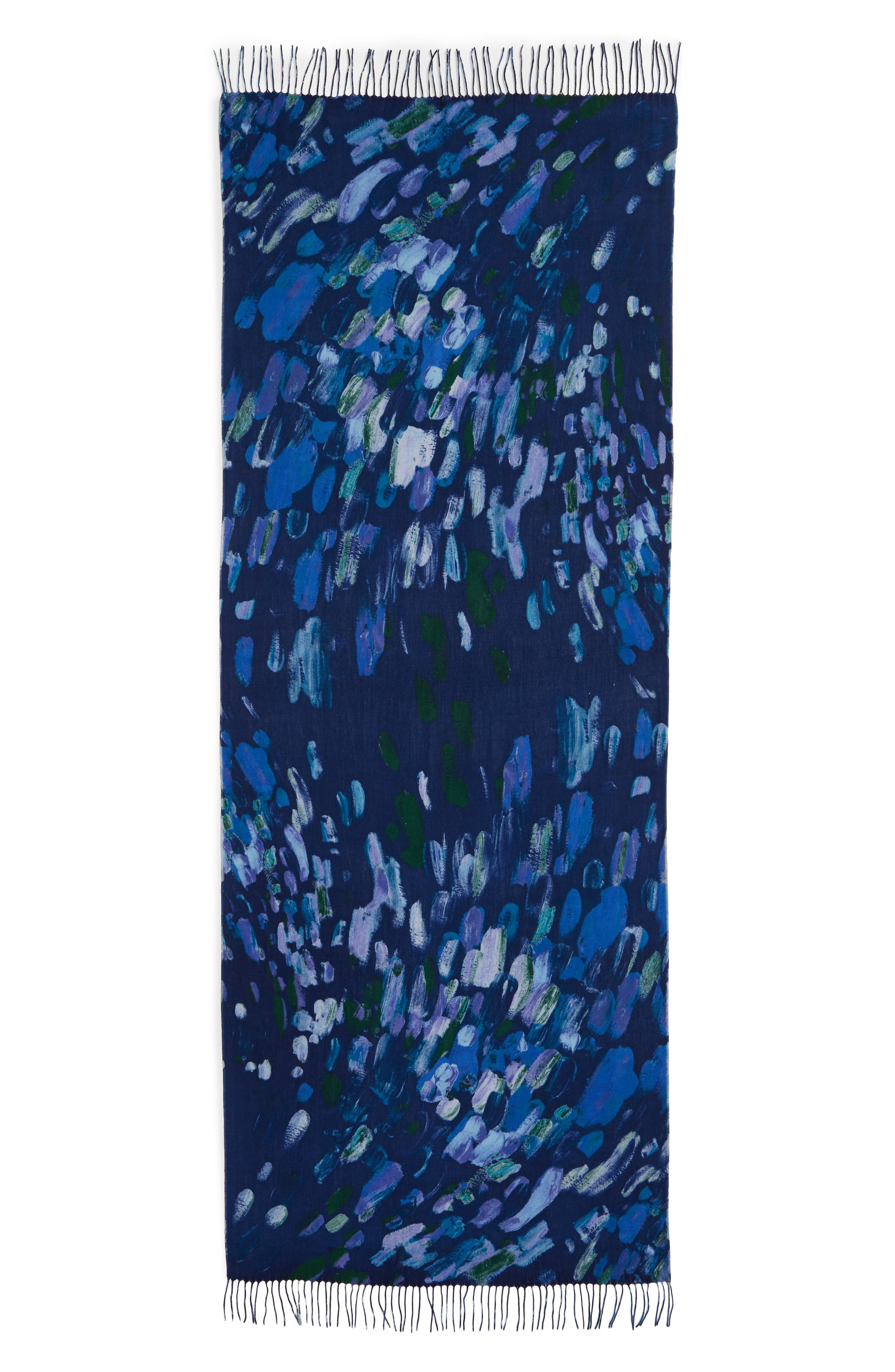 Tissue Print Wool & Cashmere Wrap Scarf,                             Alternate thumbnail 43, color,