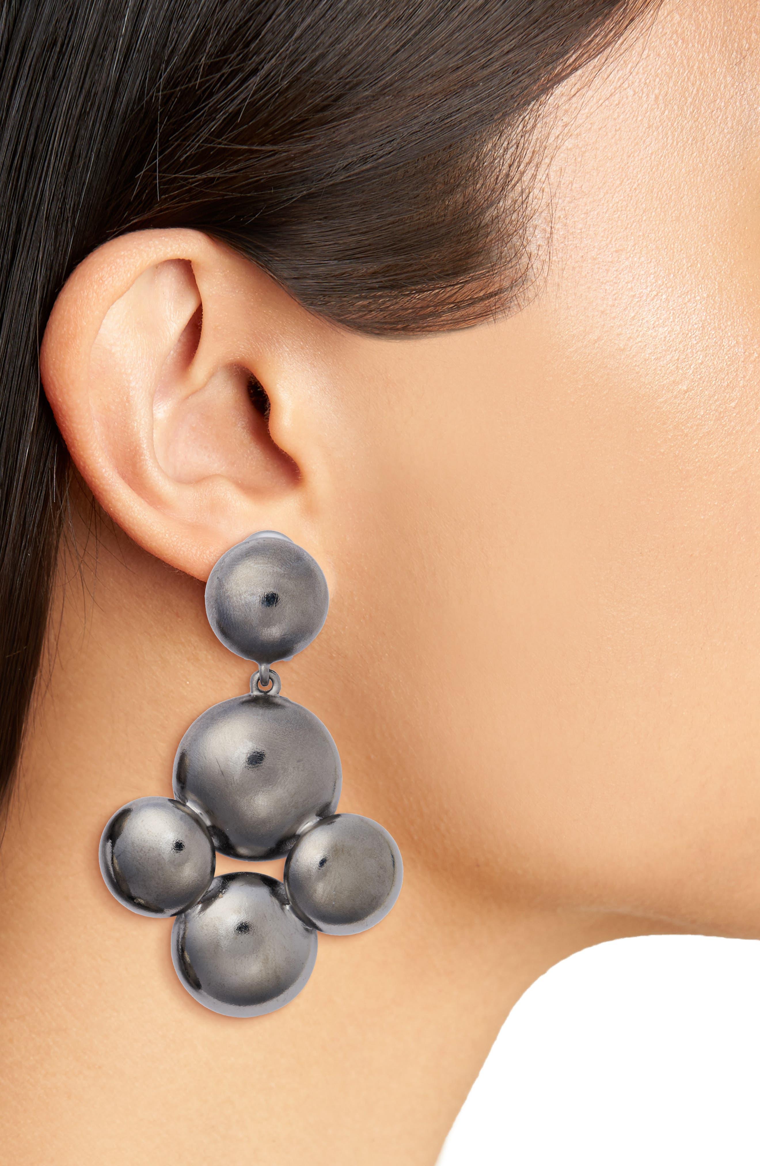 Beaded Drop Earrings,                             Alternate thumbnail 2, color,                             040
