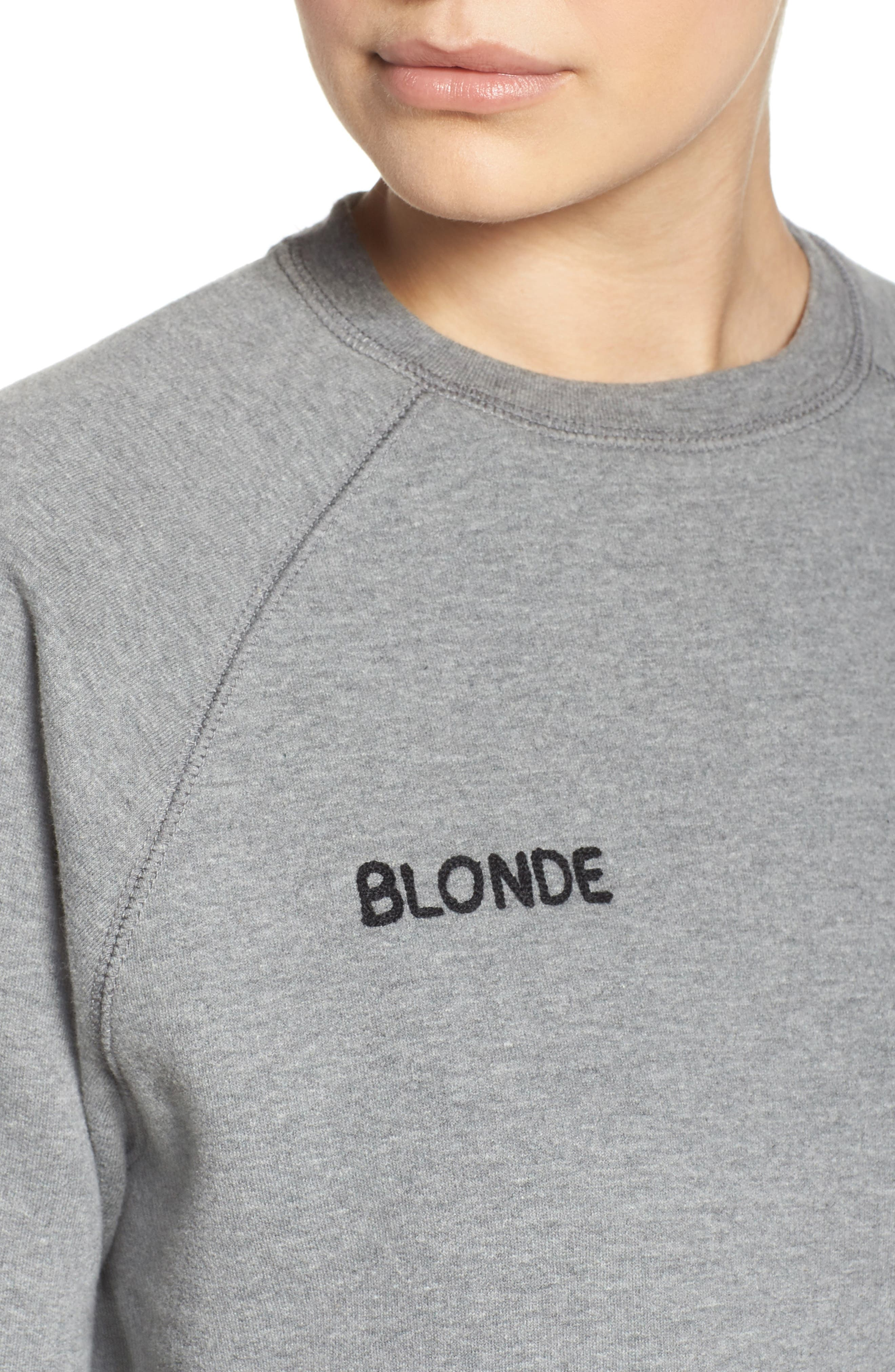 Blonde Crewneck Sweatshirt,                             Alternate thumbnail 4, color,                             030