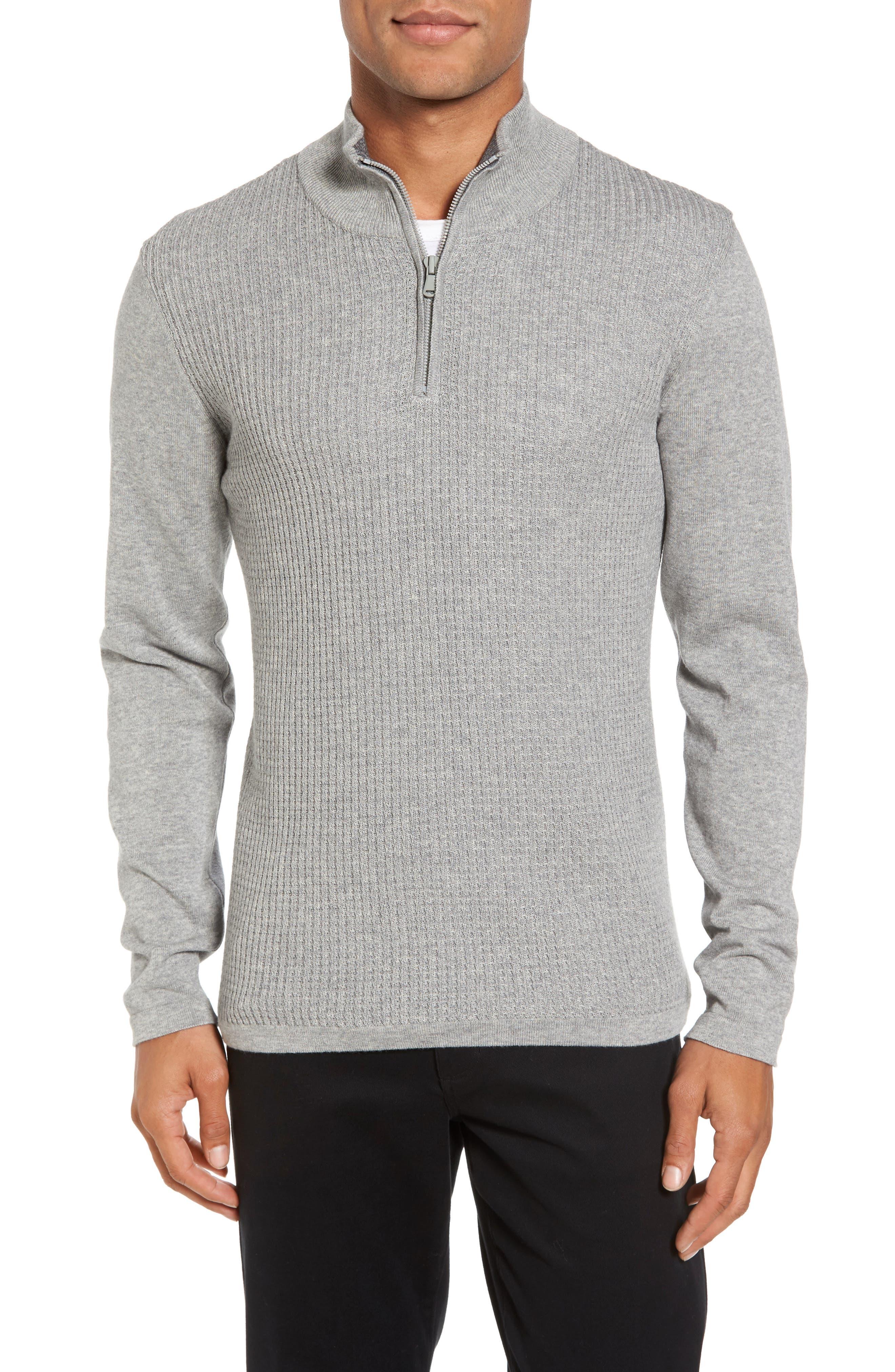 Higgins Quarter Zip Sweater,                             Main thumbnail 1, color,                             050