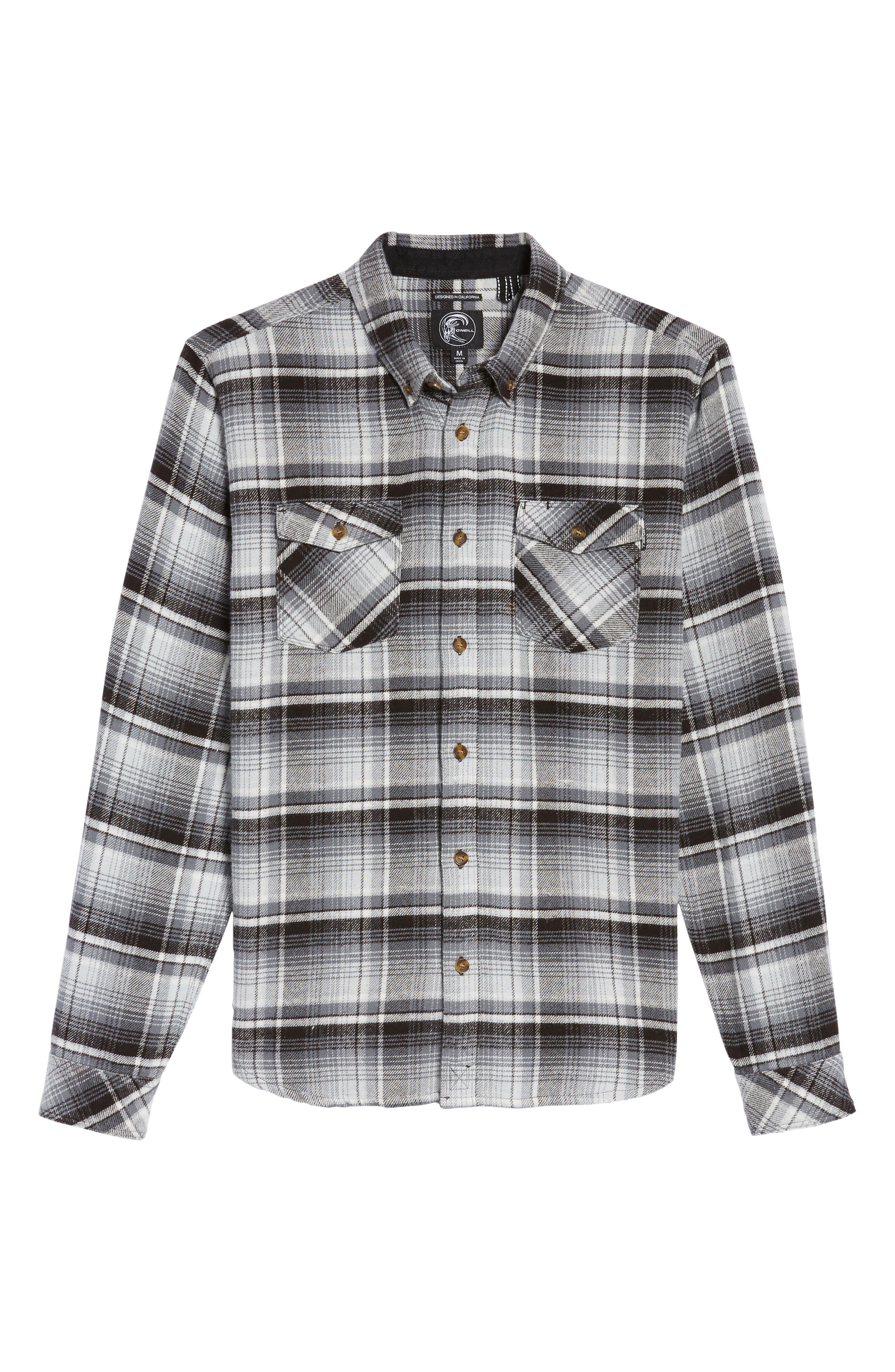 Butler Plaid Flannel Sport Shirt,                             Alternate thumbnail 16, color,