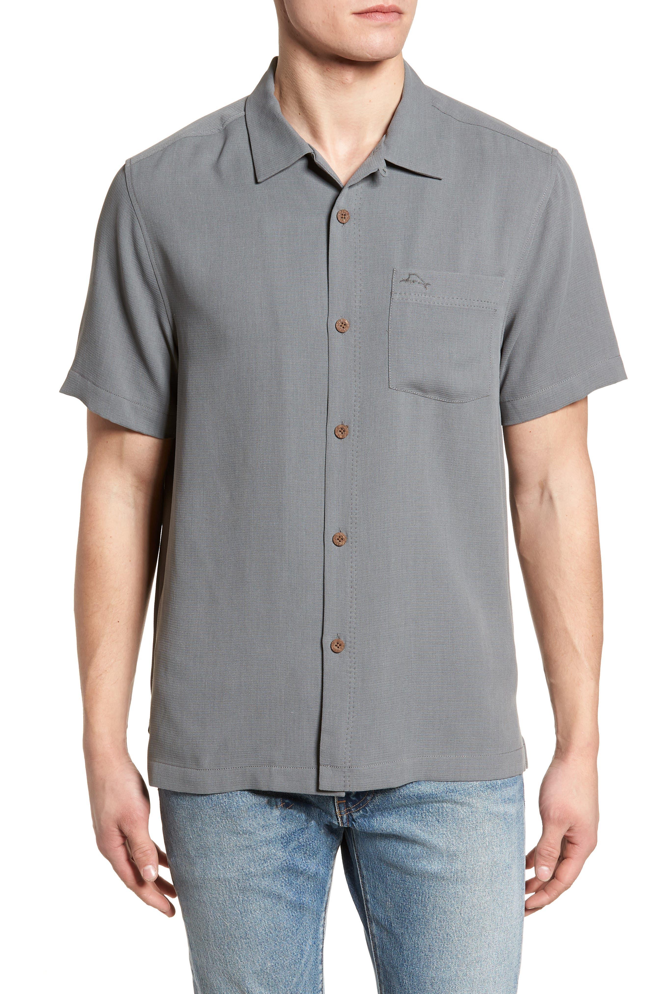 Royal Bermuda Standard Fit Silk Blend Camp Shirt,                             Main thumbnail 1, color,                             050