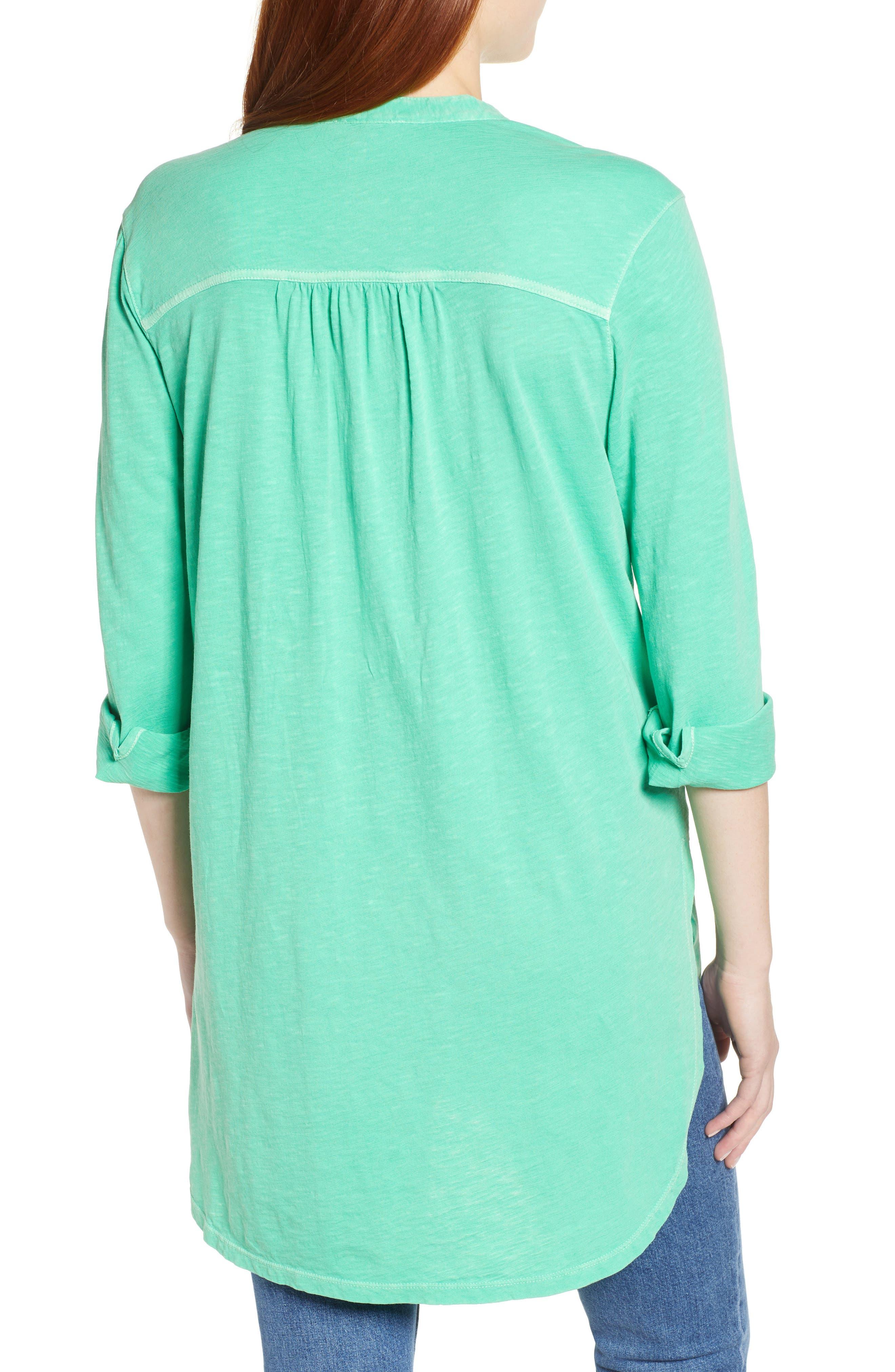 Button Down Knit Tunic,                             Alternate thumbnail 2, color,                             GREEN KATYDID