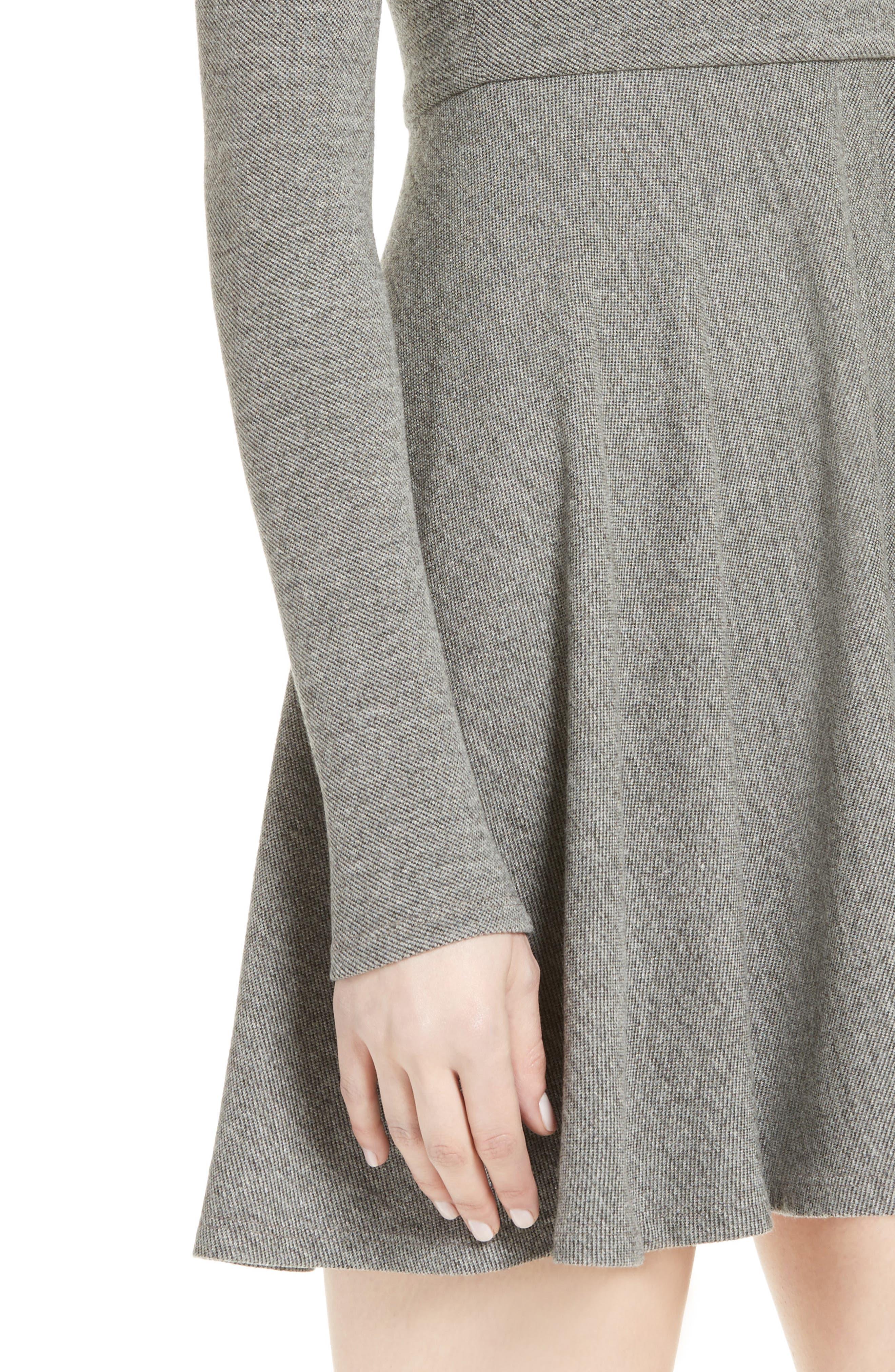 'Brinley' Long Sleeve Mini Dress,                             Alternate thumbnail 4, color,                             GREY