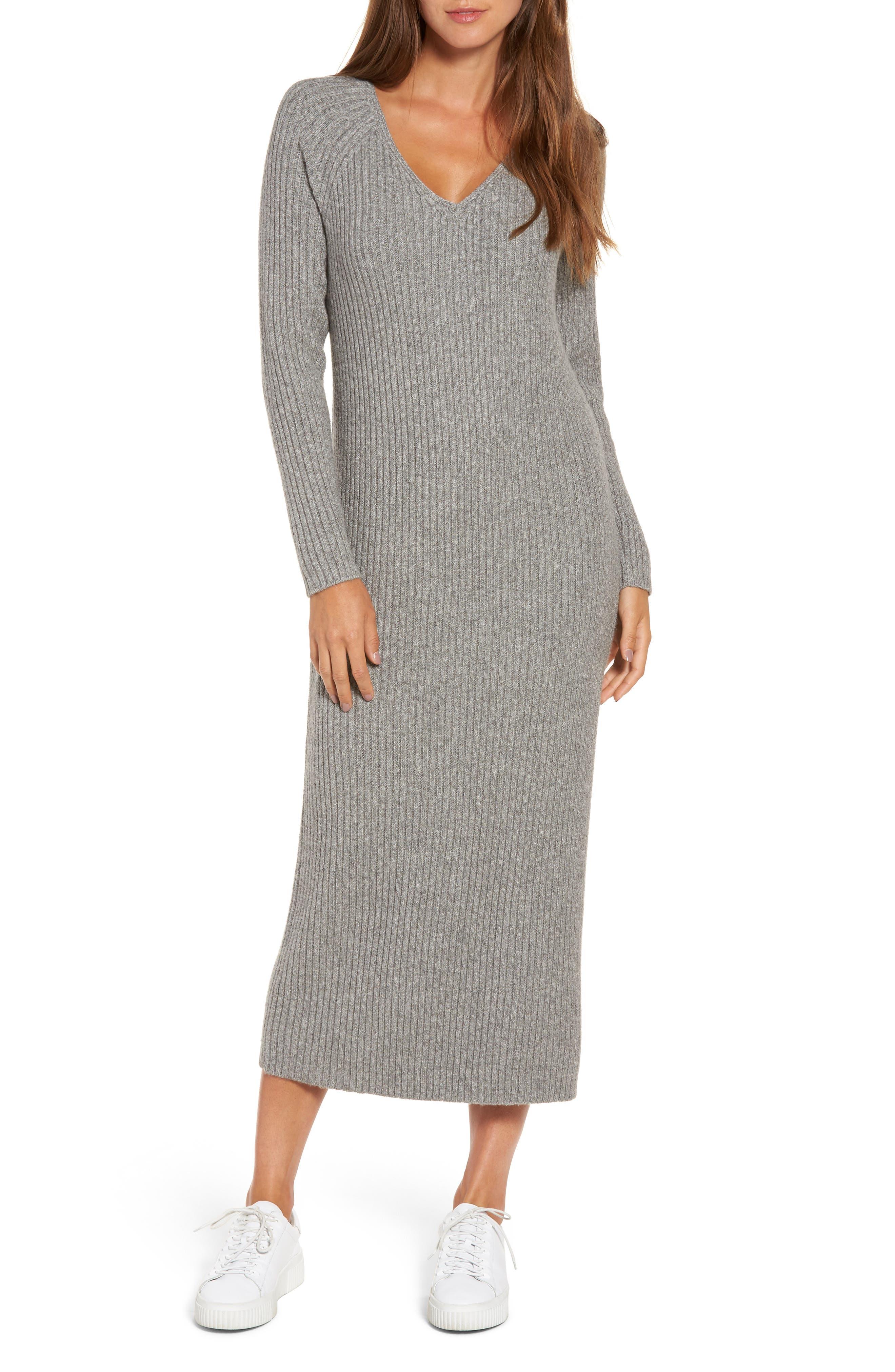 Ribbed Maxi Sweater Dress,                         Main,                         color,