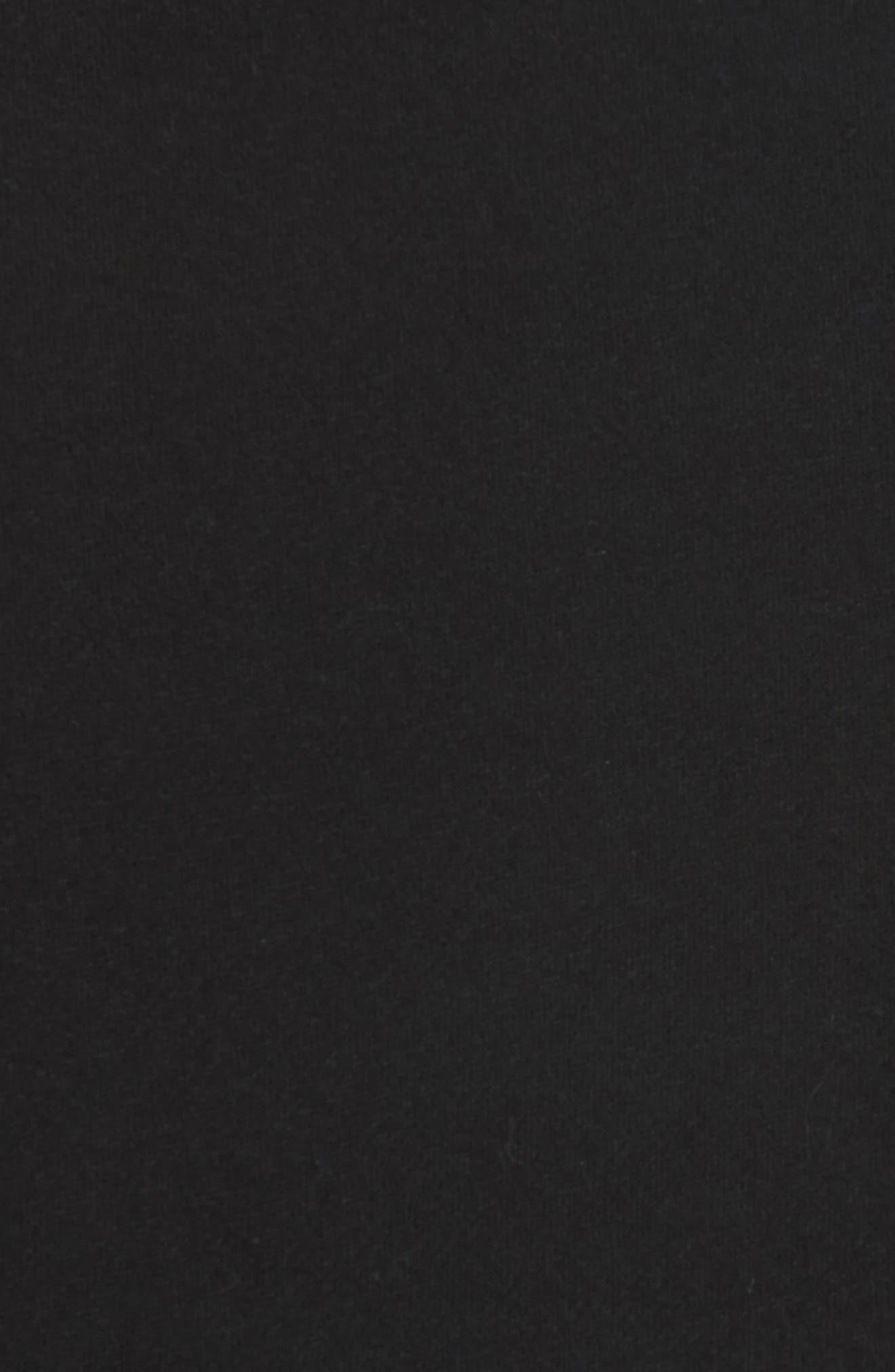 Distressed Crewneck Sweatshirt,                             Alternate thumbnail 5, color,                             BLACK