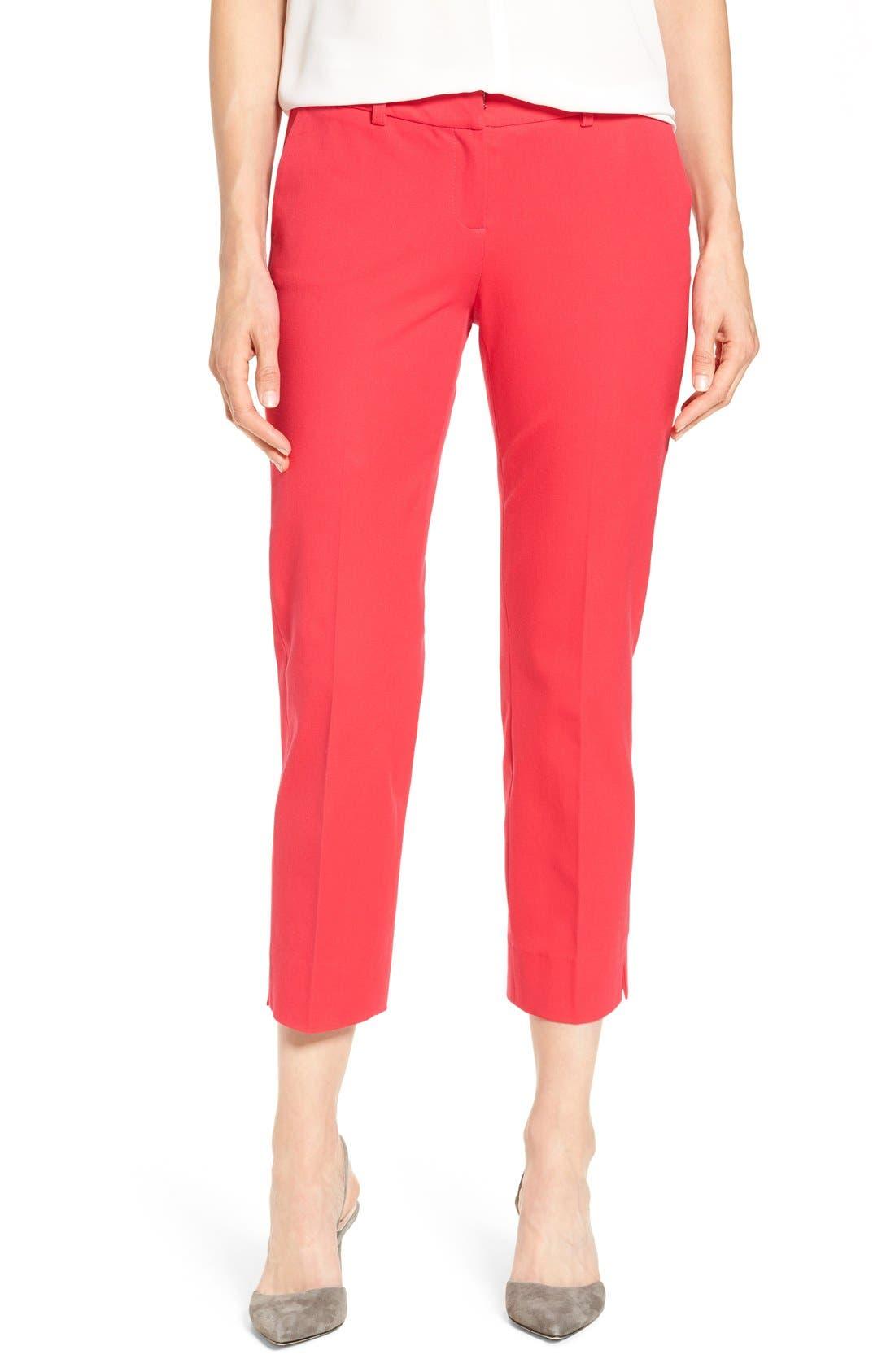 Crop Stretch Cotton Pants,                             Main thumbnail 18, color,