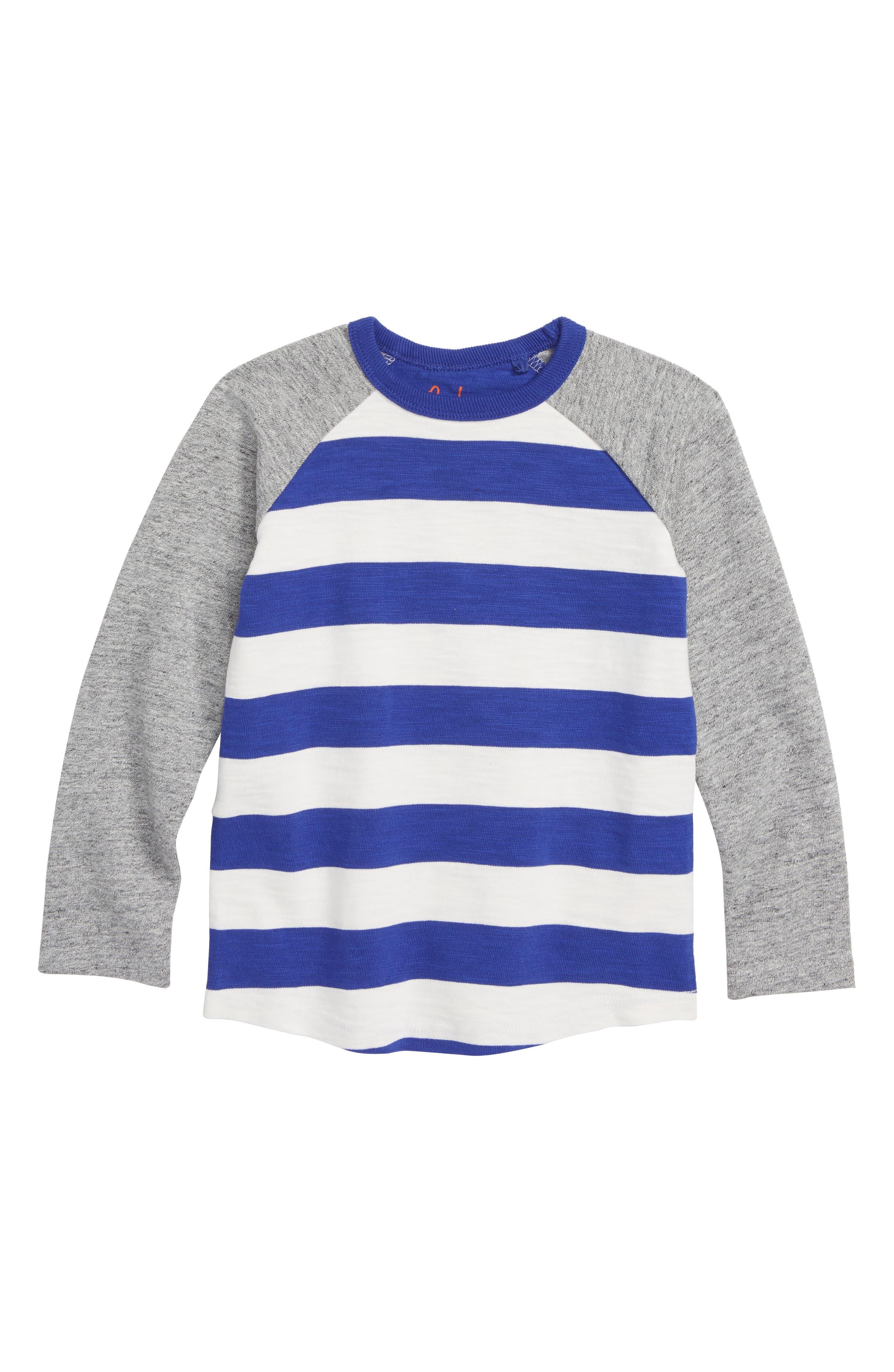 Stripe Raglan T-Shirt,                         Main,                         color, RICHIE BLUE/ ECRU