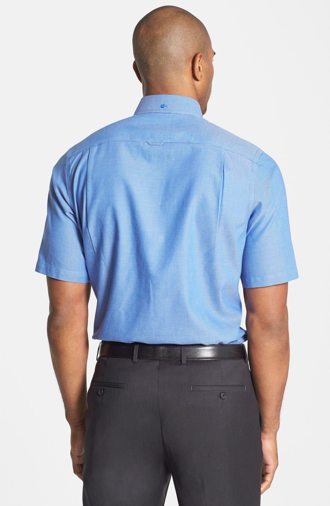 'Classic' Smartcare<sup>™</sup> Regular Fit Short Sleeve Cotton Sport Shirt,                             Alternate thumbnail 69, color,