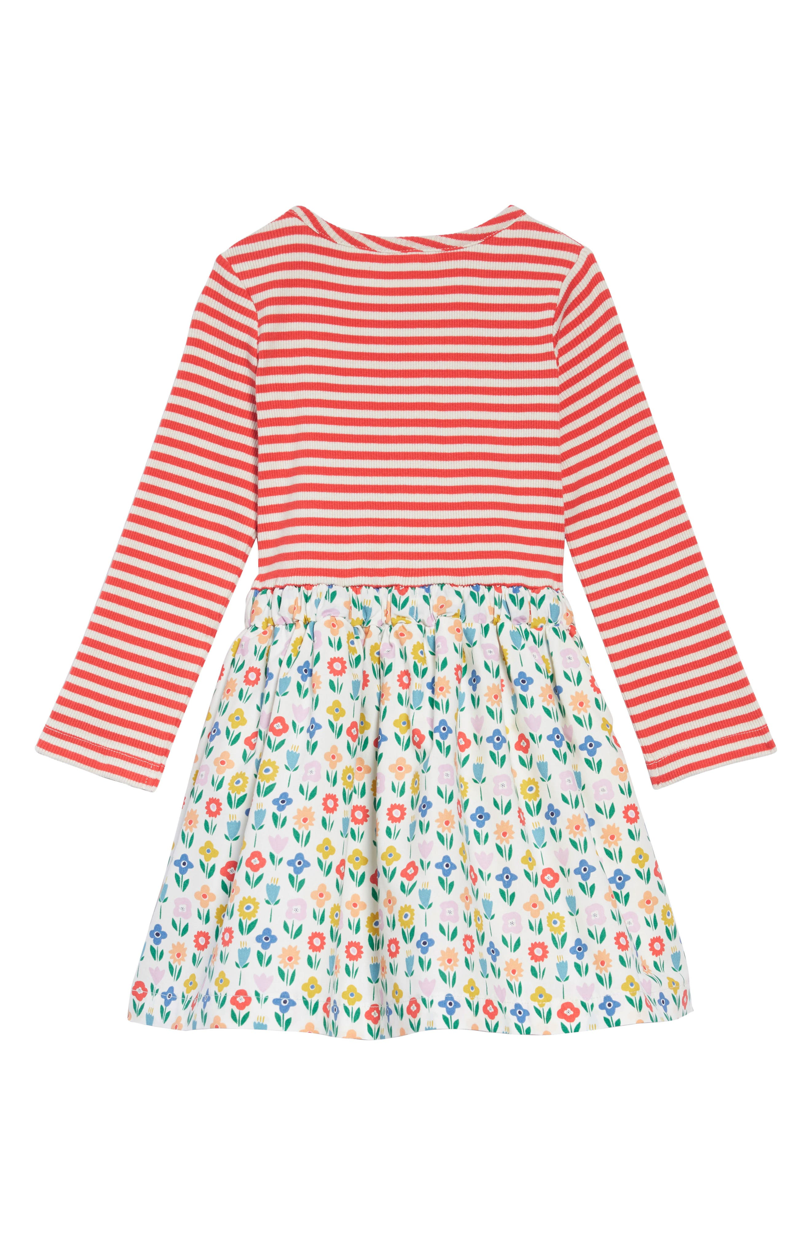 Hotchpotch Dress,                             Alternate thumbnail 2, color,                             IVO IVORY FLOWER PATCH