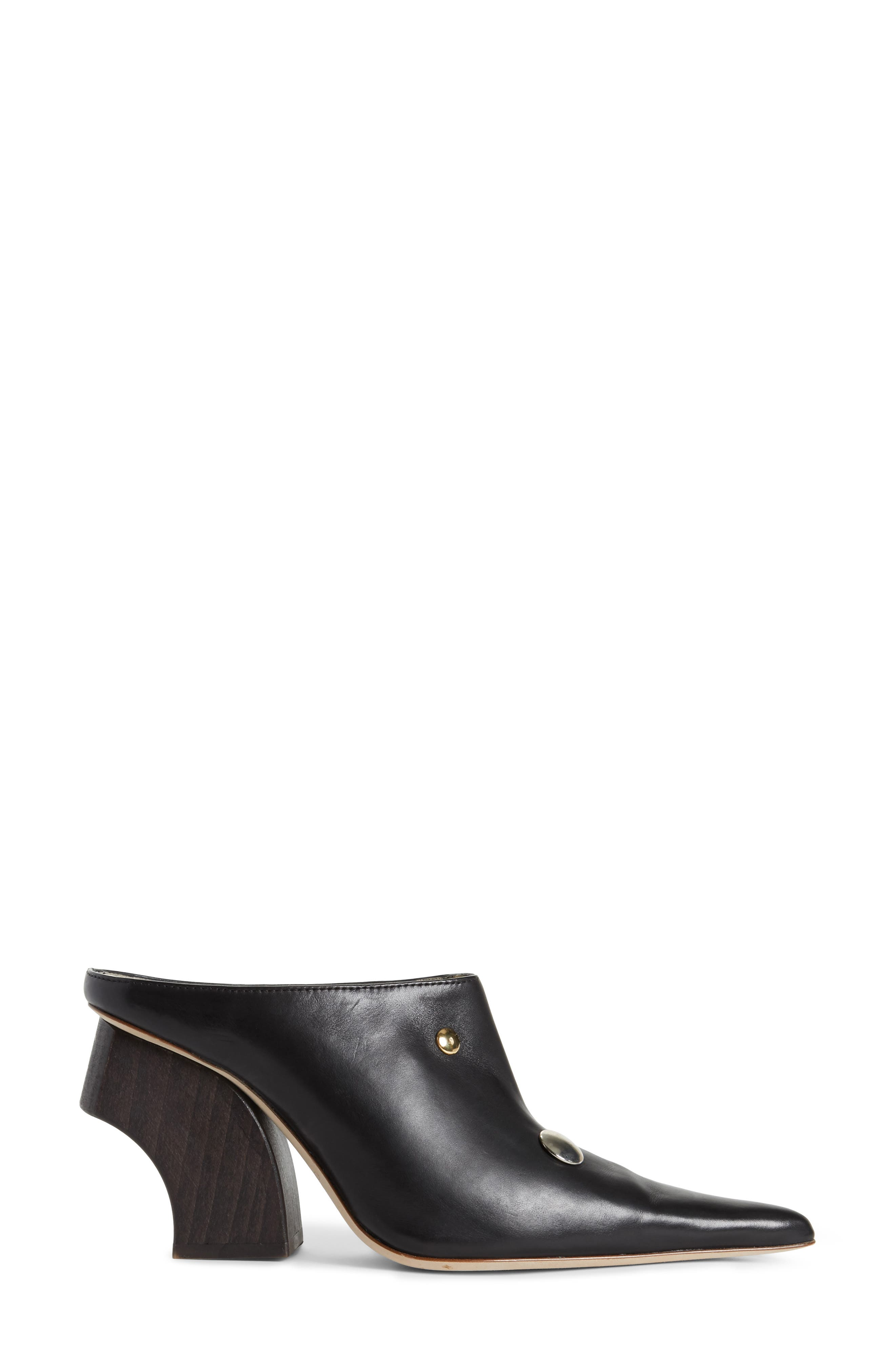 Yamin Curved Heel Mule,                             Alternate thumbnail 3, color,                             001