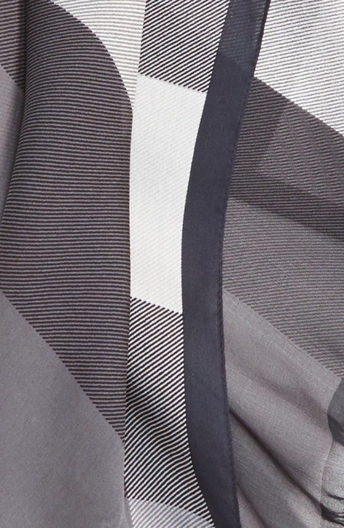 Mega Check Silk Scarf,                             Alternate thumbnail 2, color,                             020