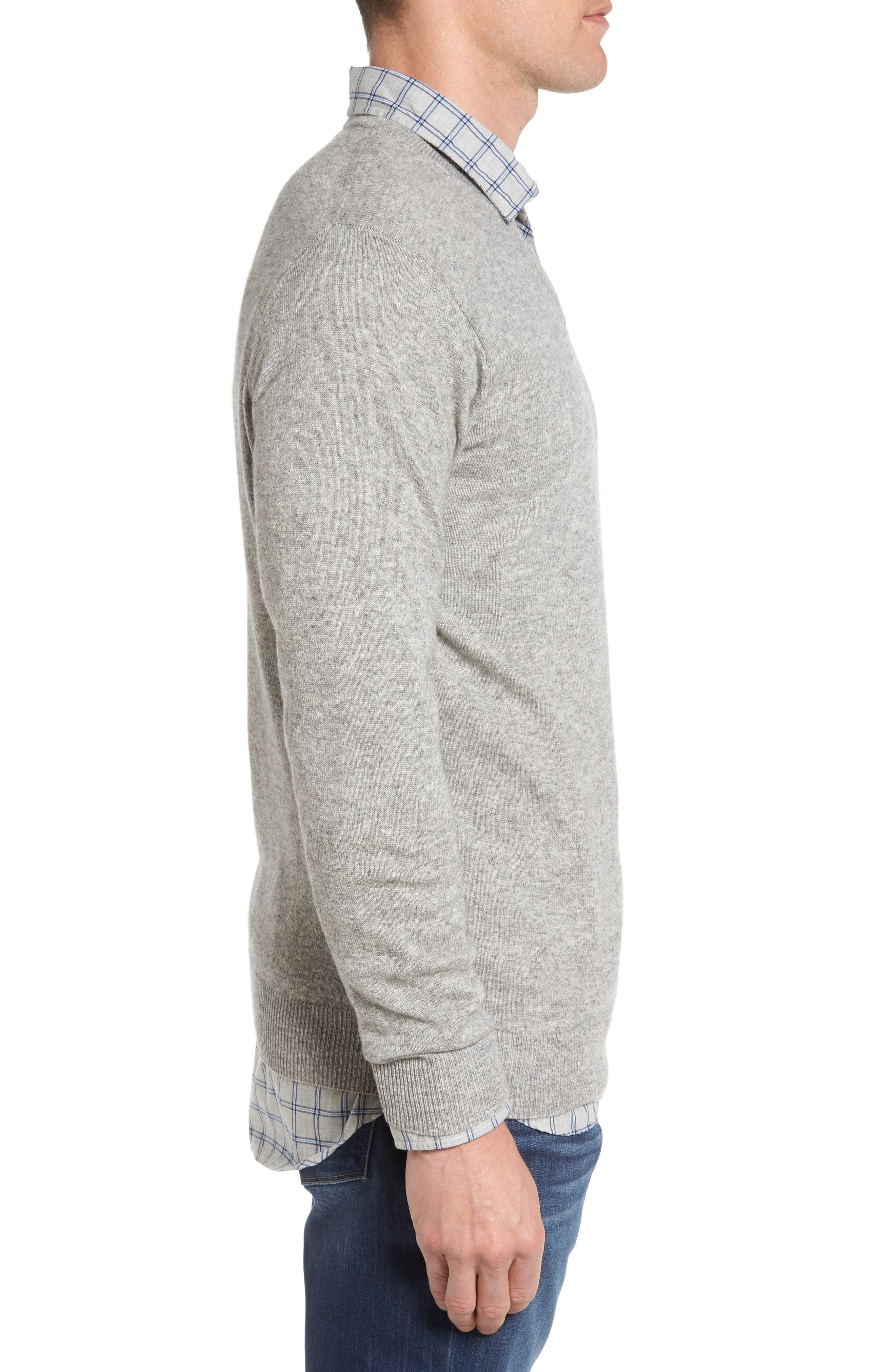 'Inchbonnie' Wool & Cashmere V-Neck Sweater,                             Alternate thumbnail 3, color,                             020