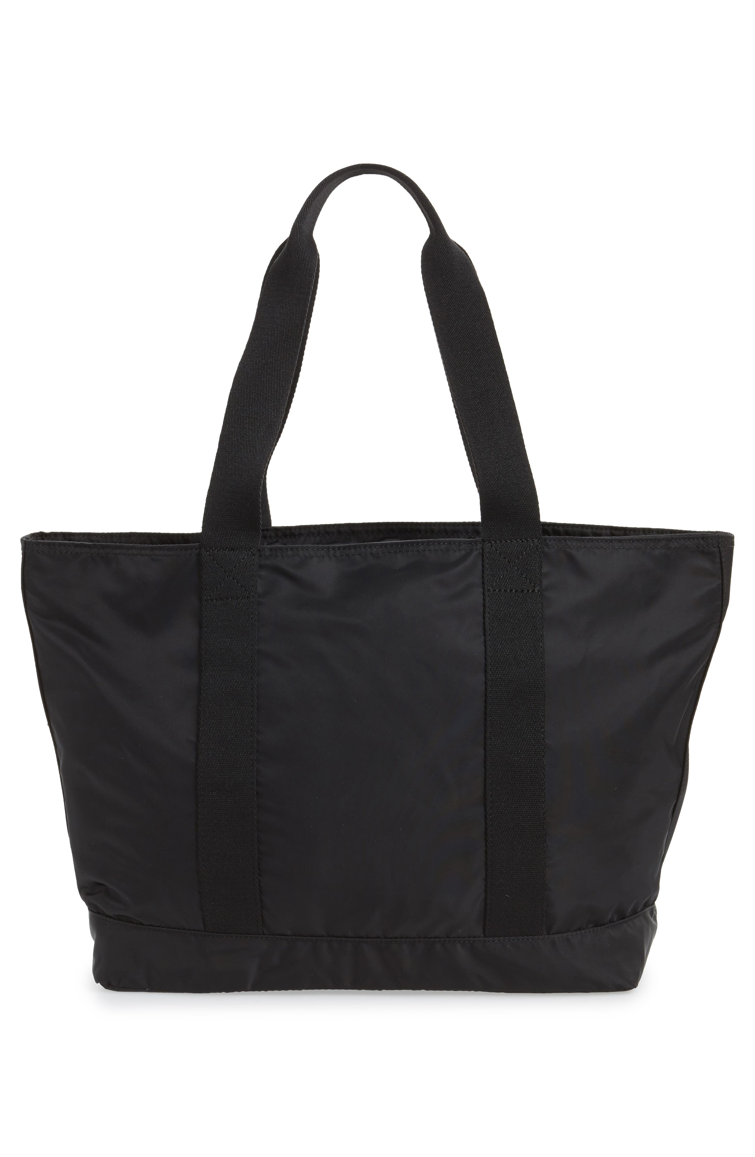 The Heights Nylon Tote,                             Alternate thumbnail 3, color,                             BLACK