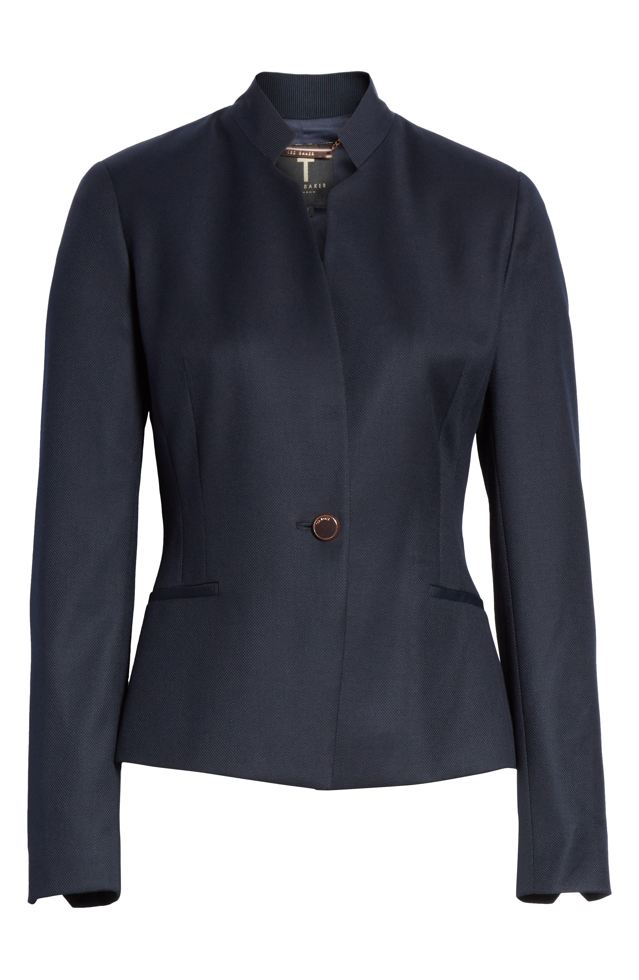 Ted Working Title Rivaa Tailored Jacket,                             Alternate thumbnail 6, color,                             DARK BLUE