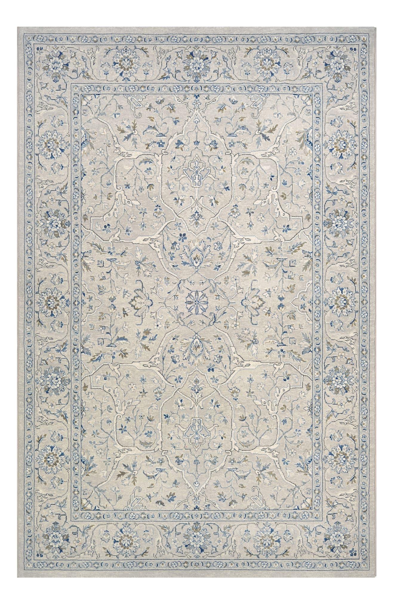 Floral Yazd Indoor/Outdoor Rug,                         Main,                         color, GREY