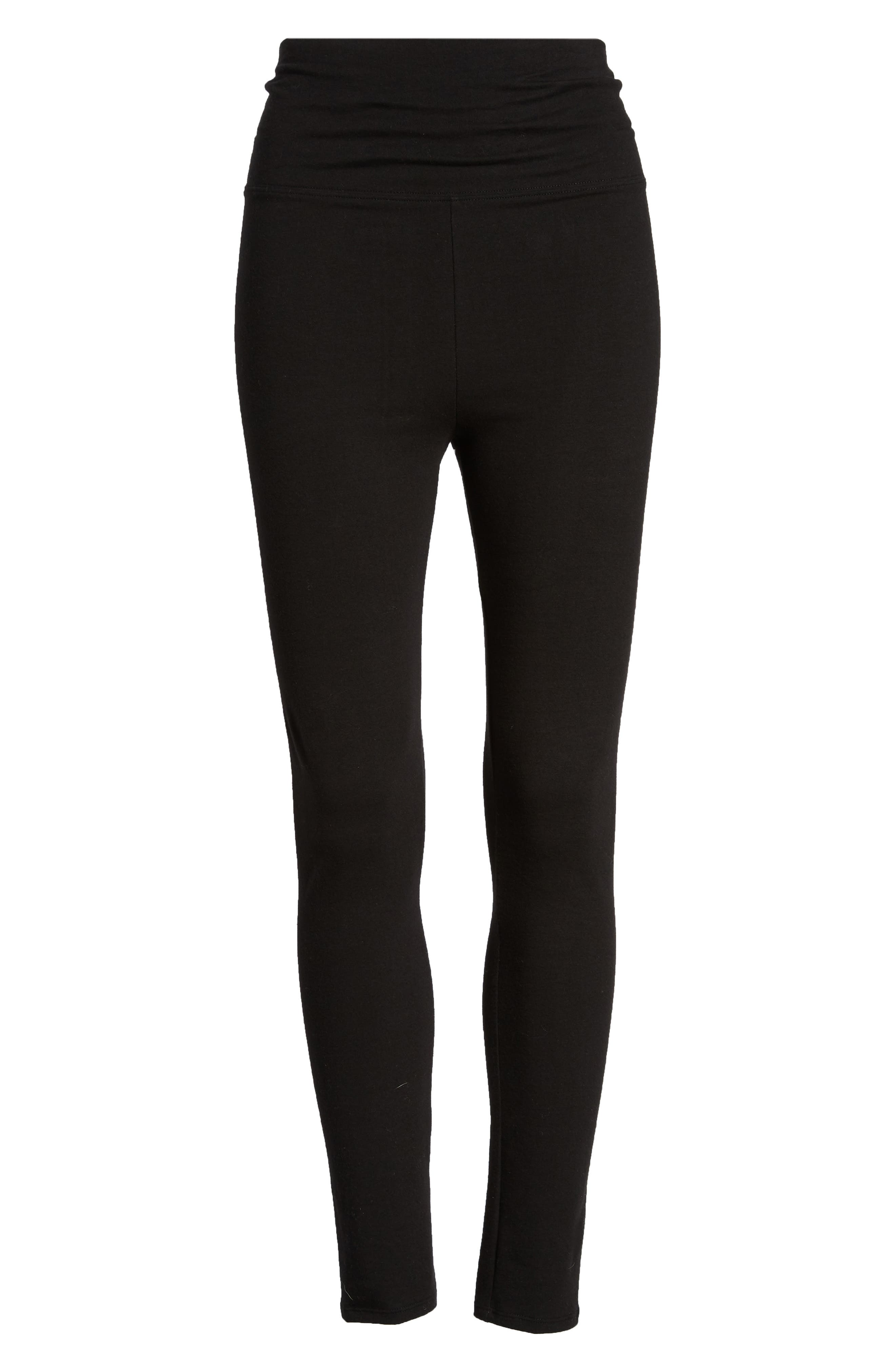 Go-To High Waist Leggings,                             Alternate thumbnail 6, color,                             BLACK