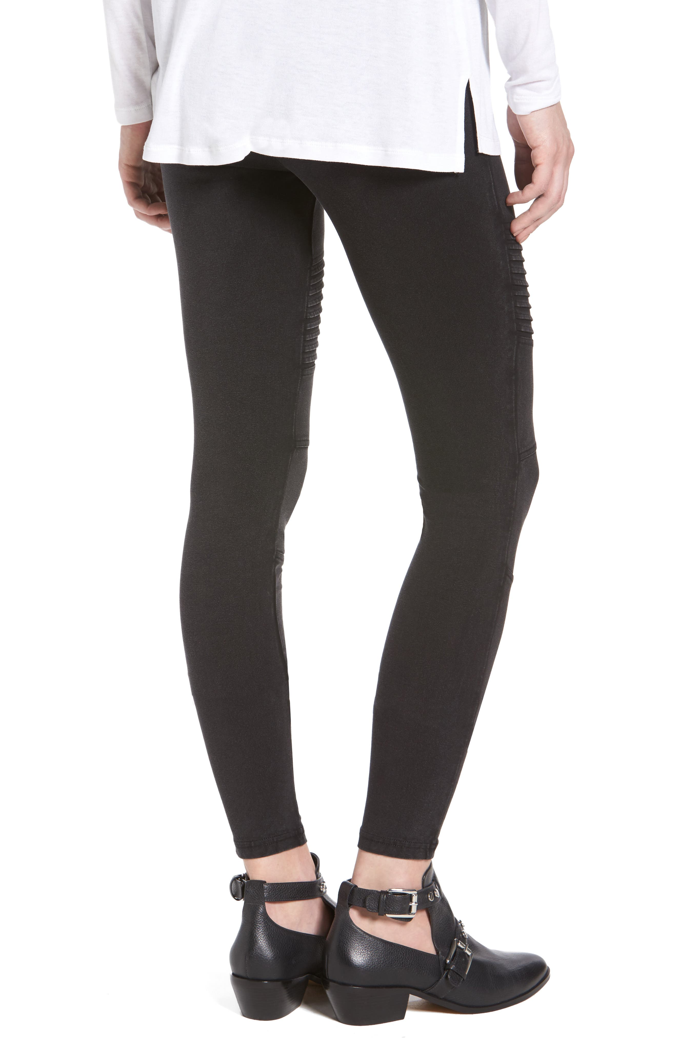 BP.,                             Moto Leggings,                             Alternate thumbnail 2, color,                             001