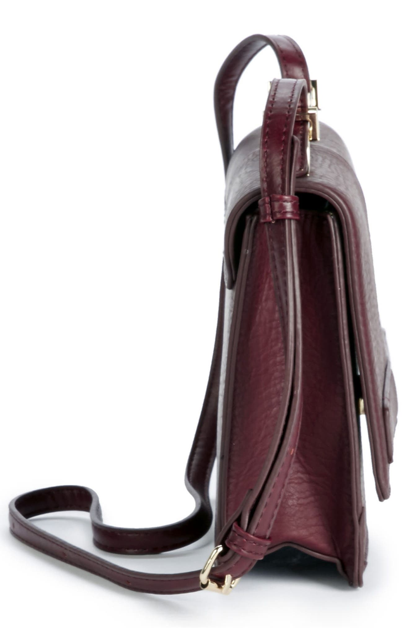 Krista Faux Leather Crossbody Bag,                             Alternate thumbnail 10, color,