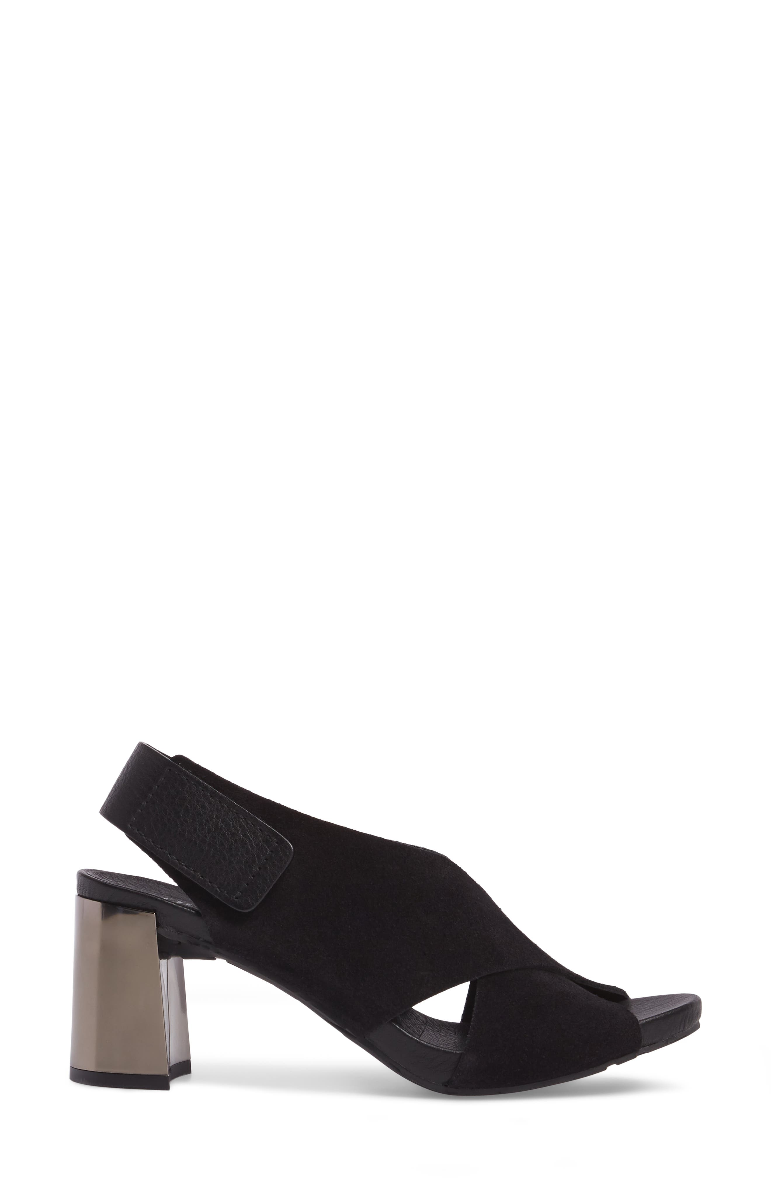Wara Sandal,                             Alternate thumbnail 3, color,                             BLACK CASTORO