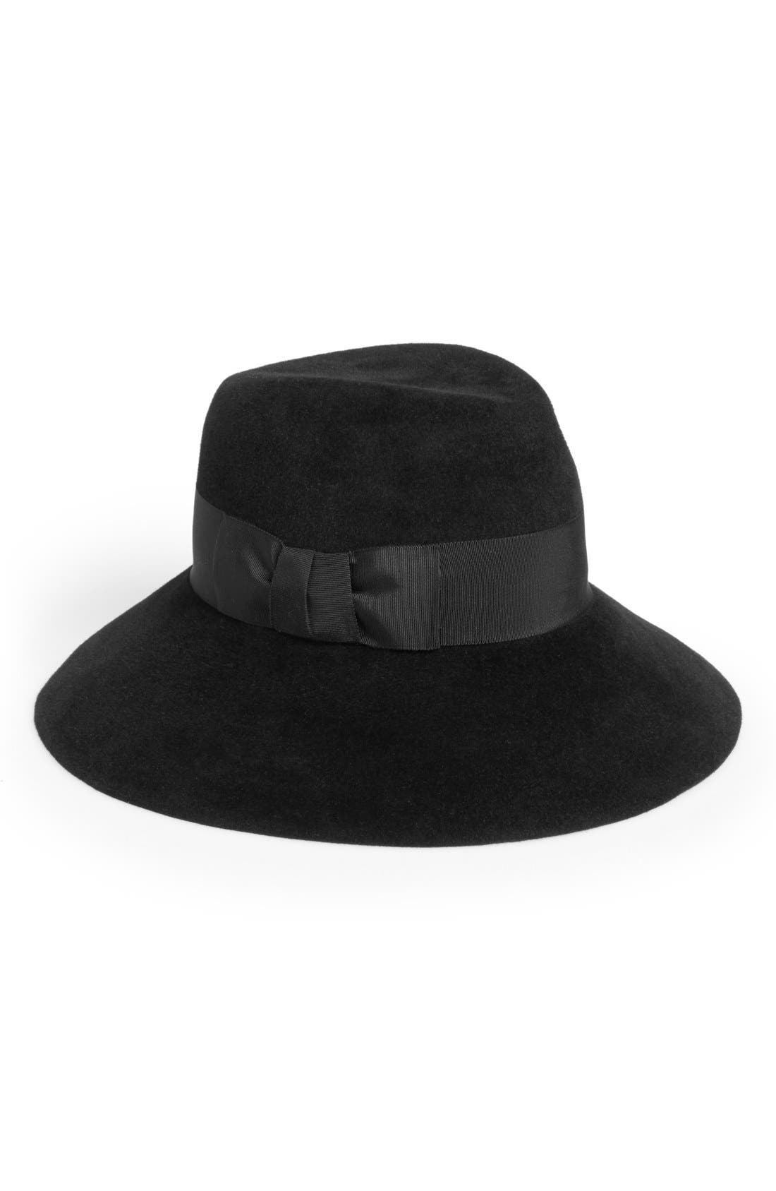 Rabbit Hair Felt Hat,                             Main thumbnail 1, color,