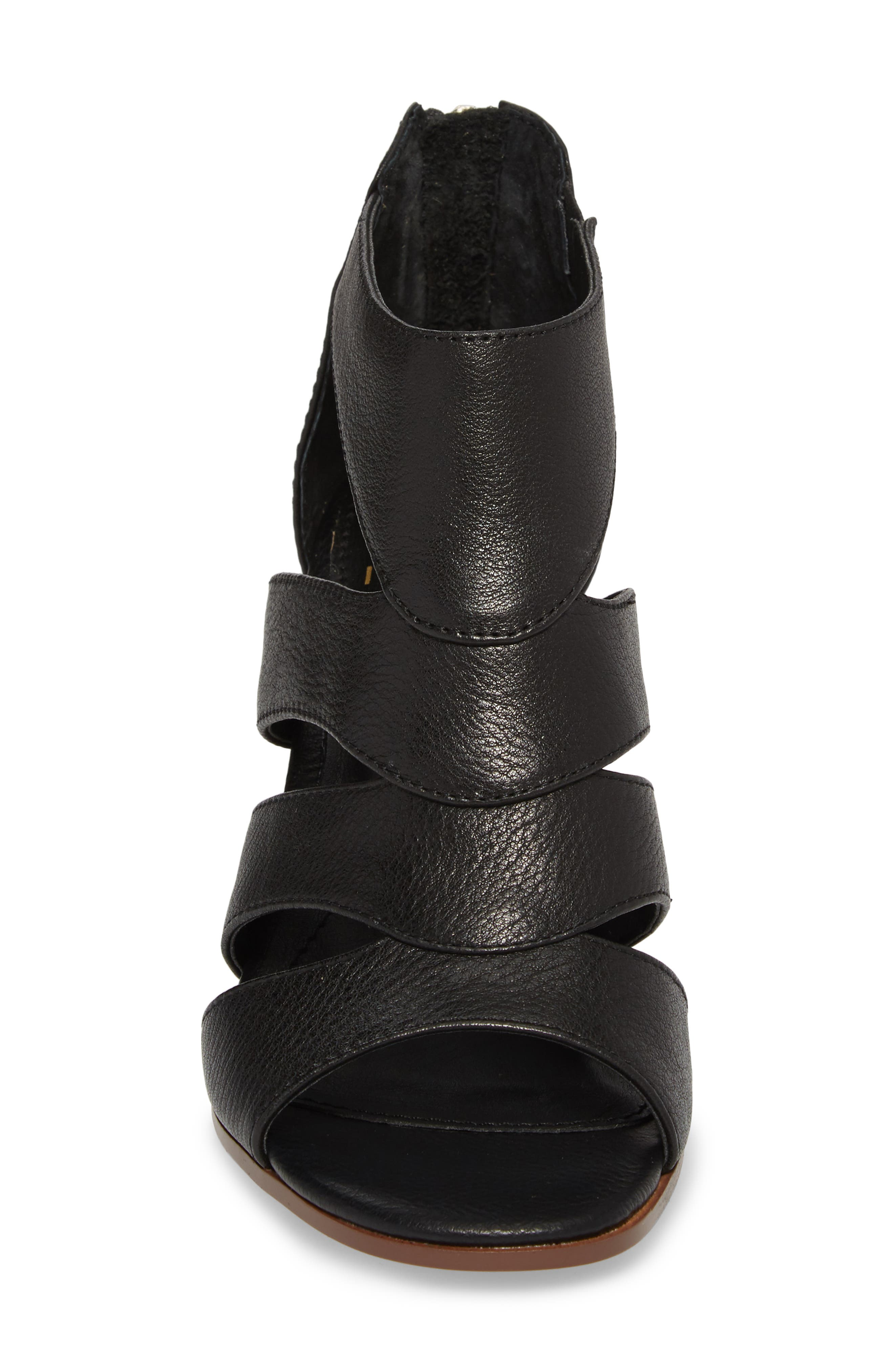 Isola Rona Sandal,                             Alternate thumbnail 4, color,                             BLACK LEATHER