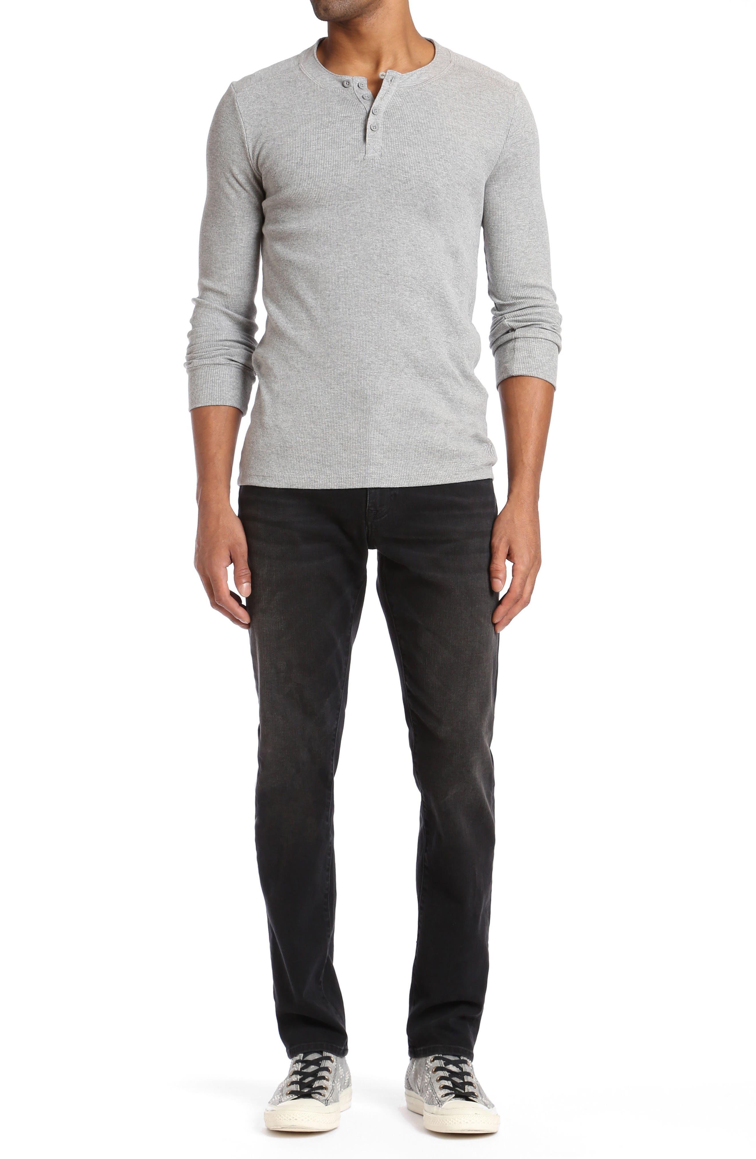 Marcus Slim Straight Leg Jeans,                             Alternate thumbnail 4, color,                             001