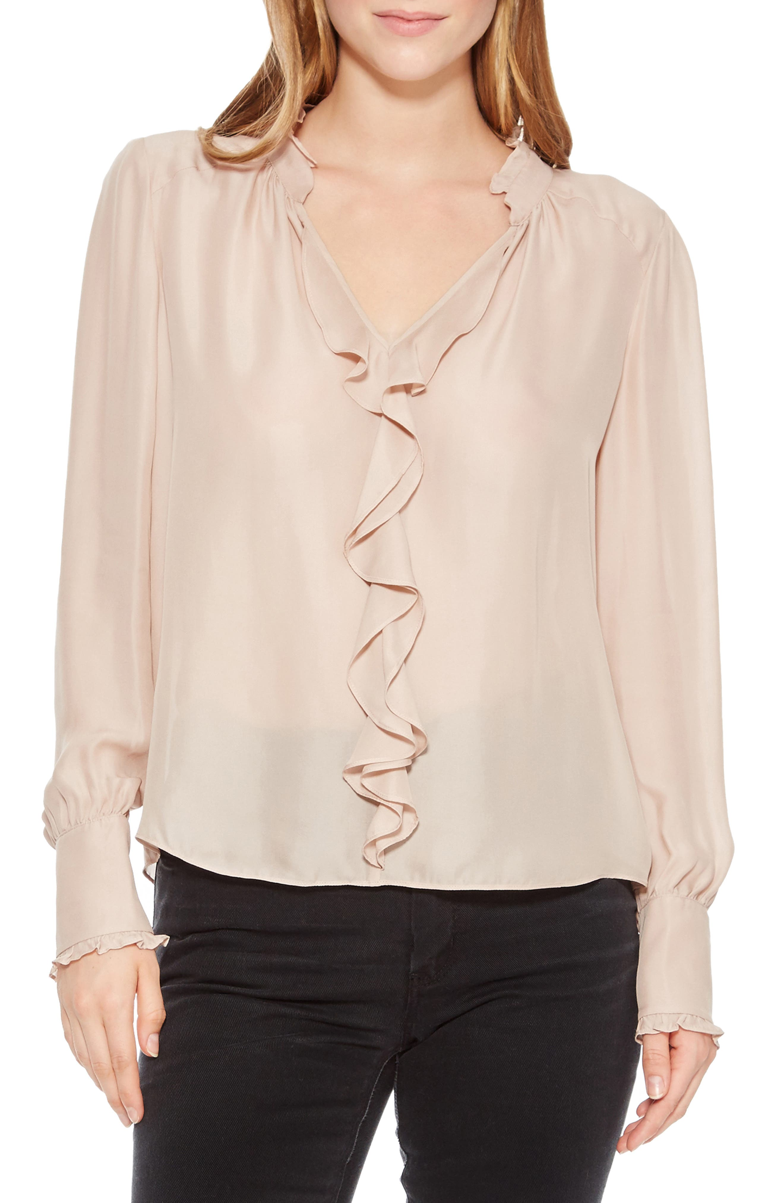 Tilly Silk Blend Blouse,                         Main,                         color, MOONLIGHT