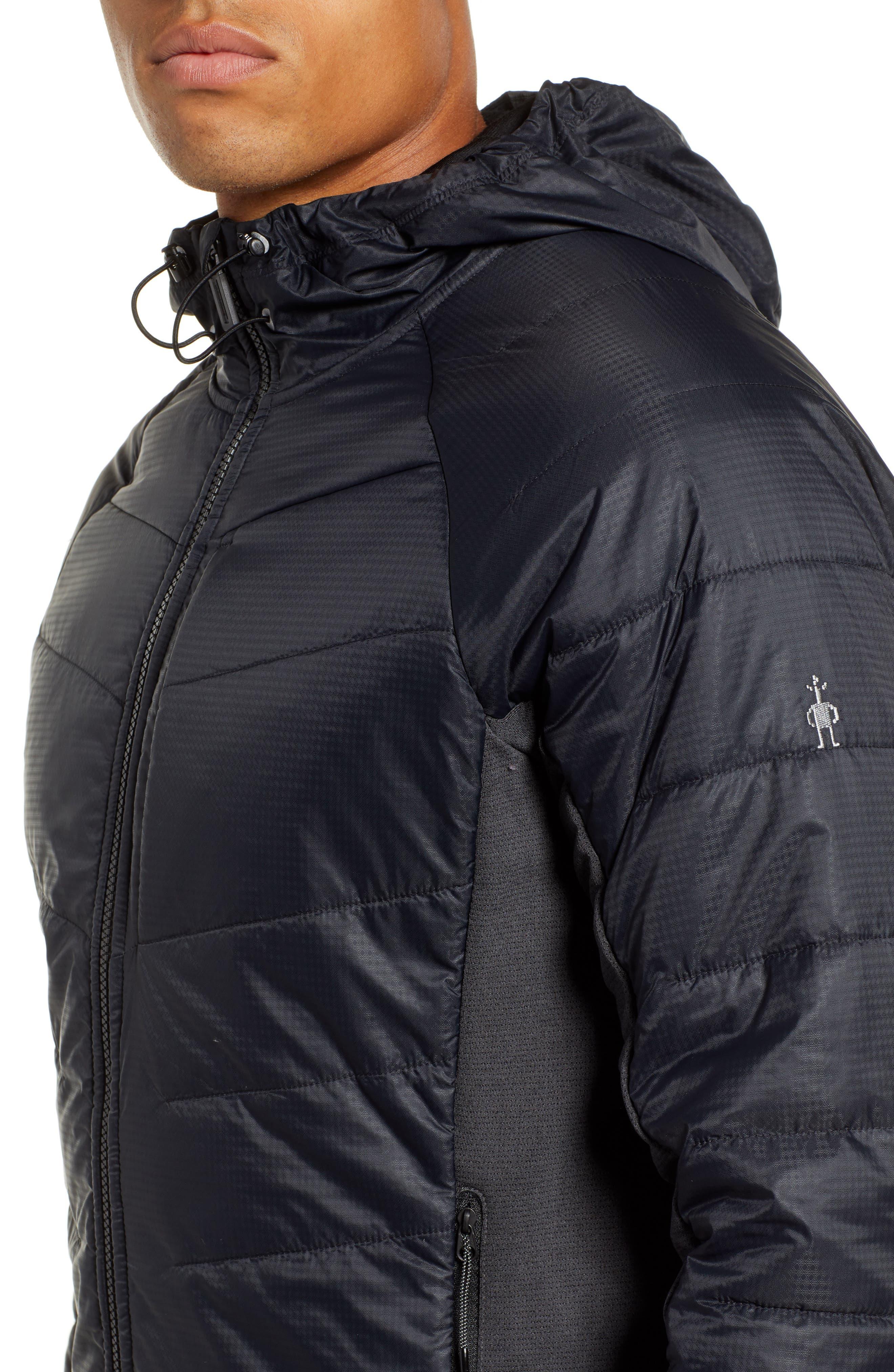 Smartloft 60 Hooded Jacket,                             Alternate thumbnail 4, color,                             BLACK
