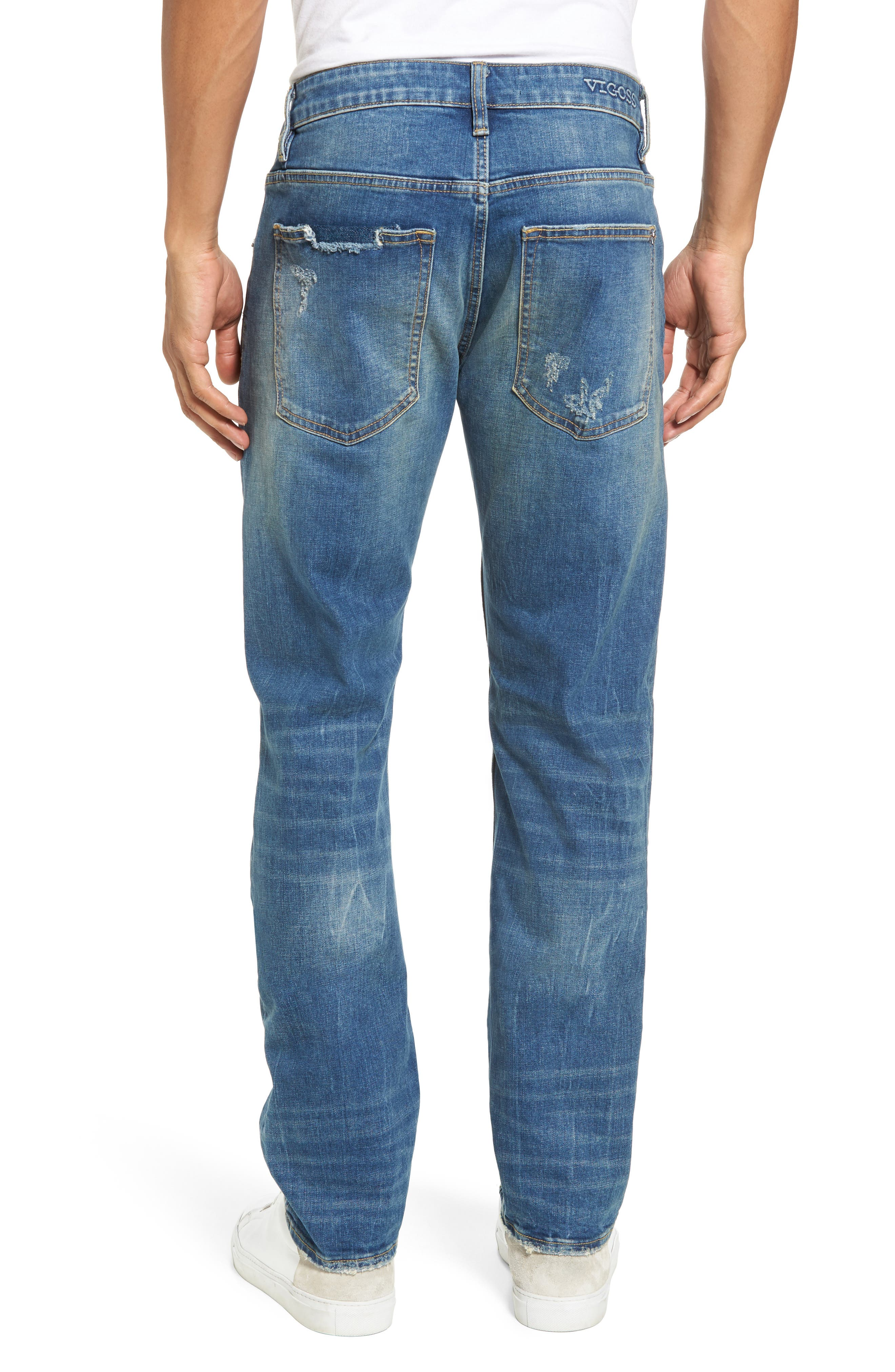 Slim Straight Leg Jeans,                             Alternate thumbnail 2, color,                             TINT LIGHT